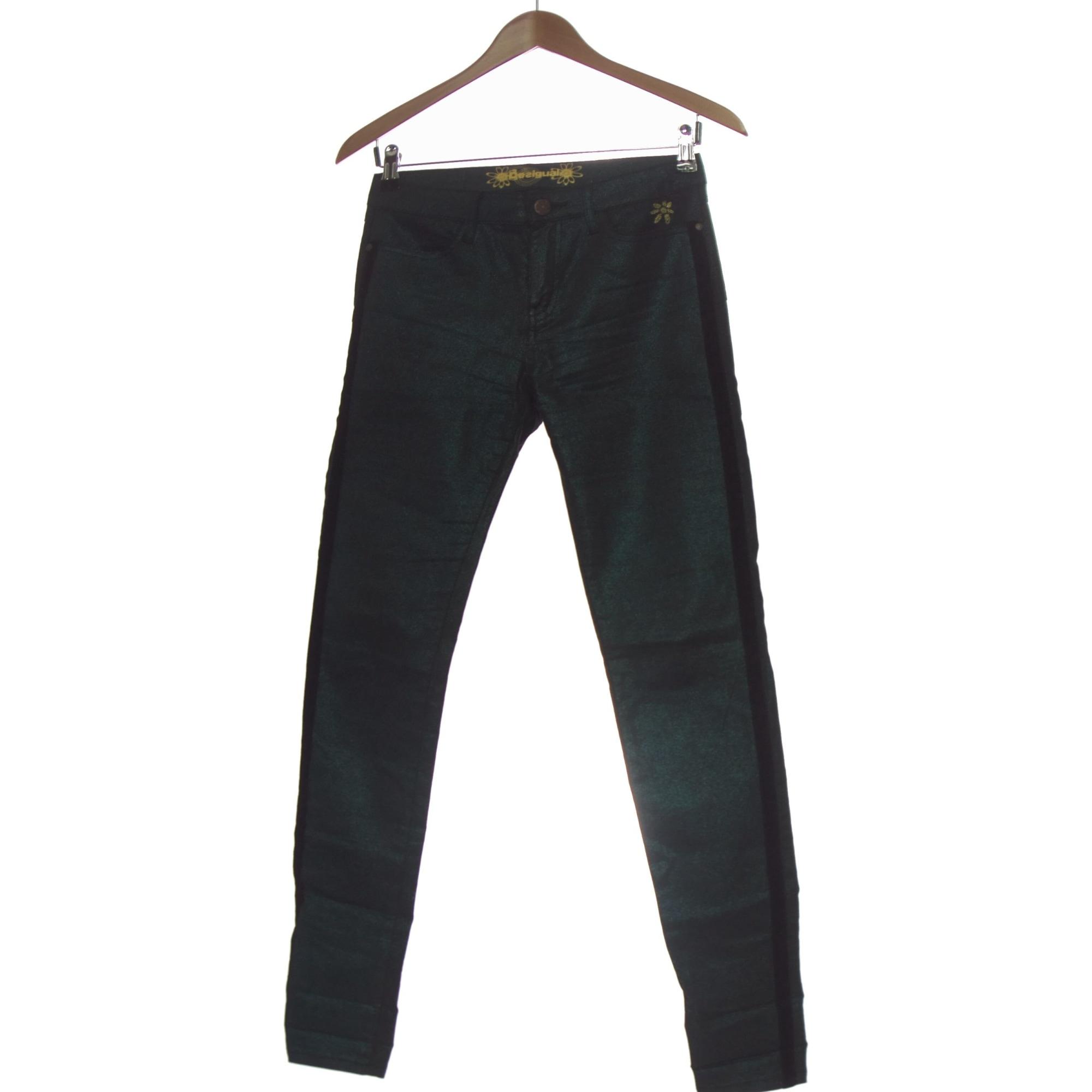 Pantalon droit DESIGUAL Vert