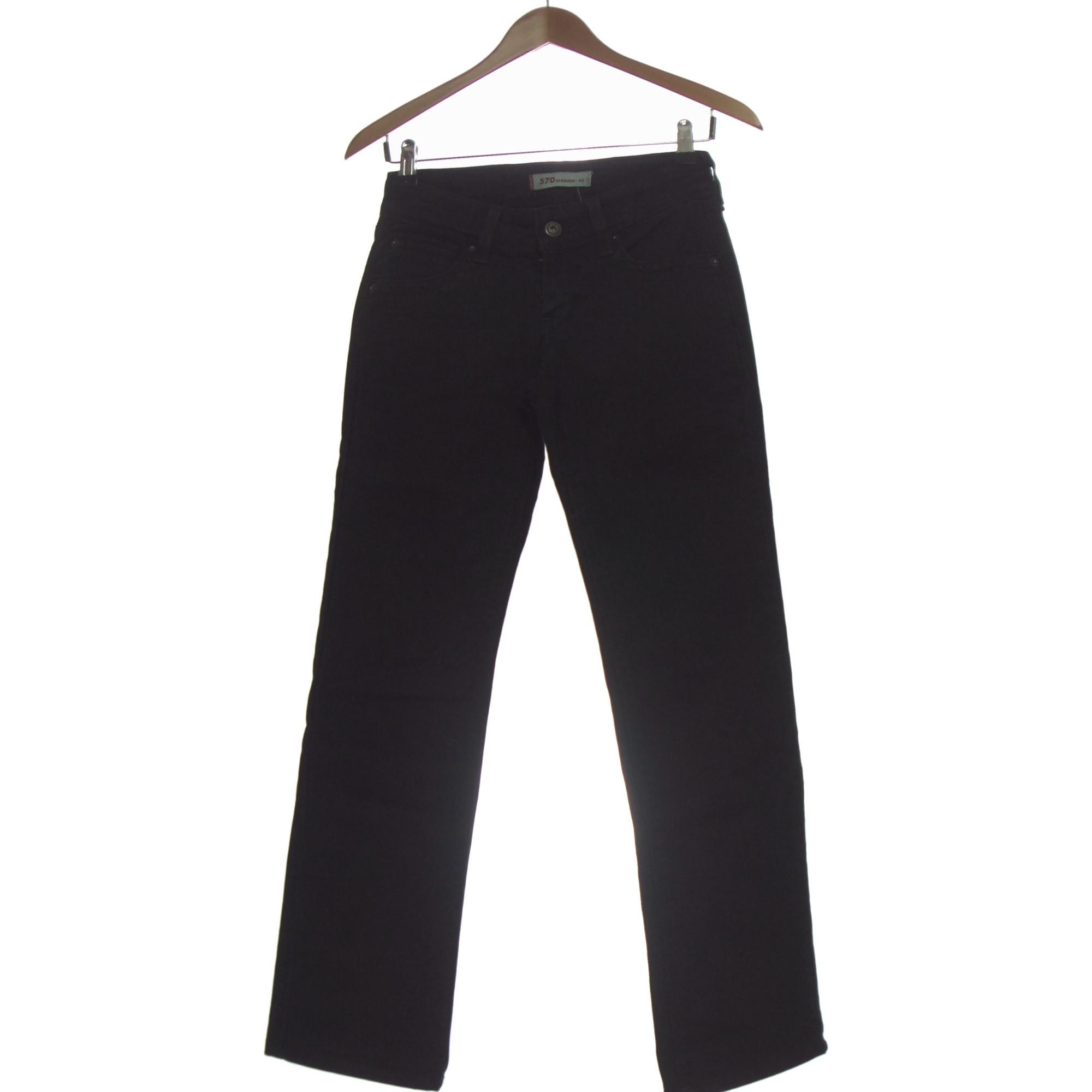 Jeans droit LEVI'S Noir