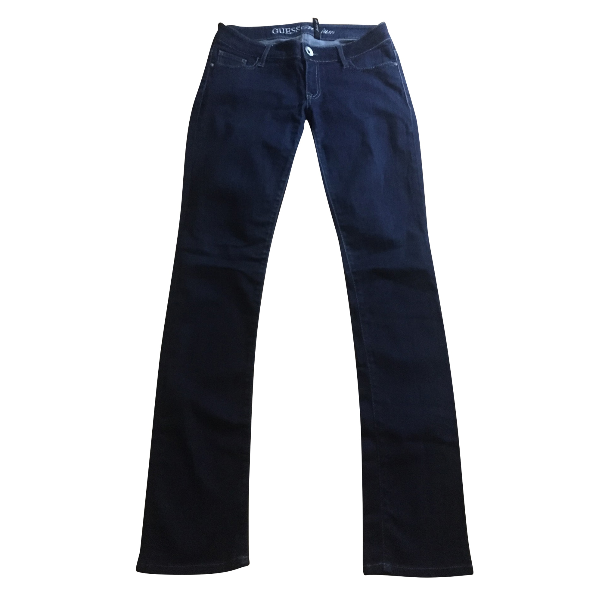 Straight Leg Pants GUESS Blue, navy, turquoise