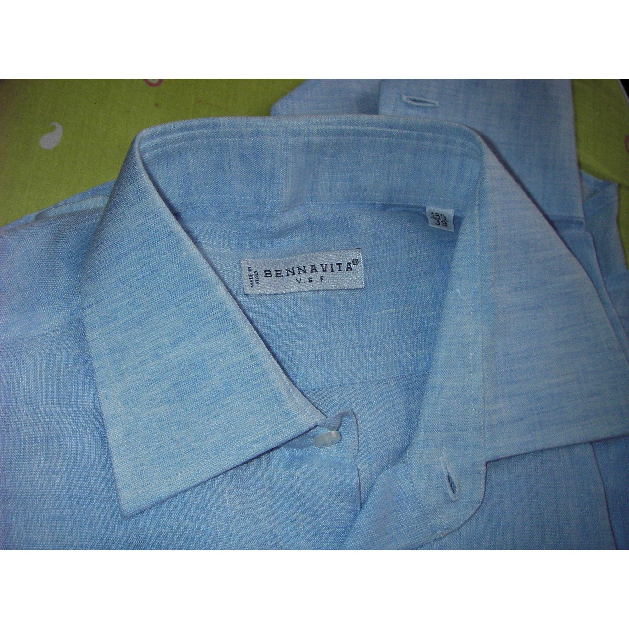 Chemise BENNAVITA Bleu, bleu marine, bleu turquoise