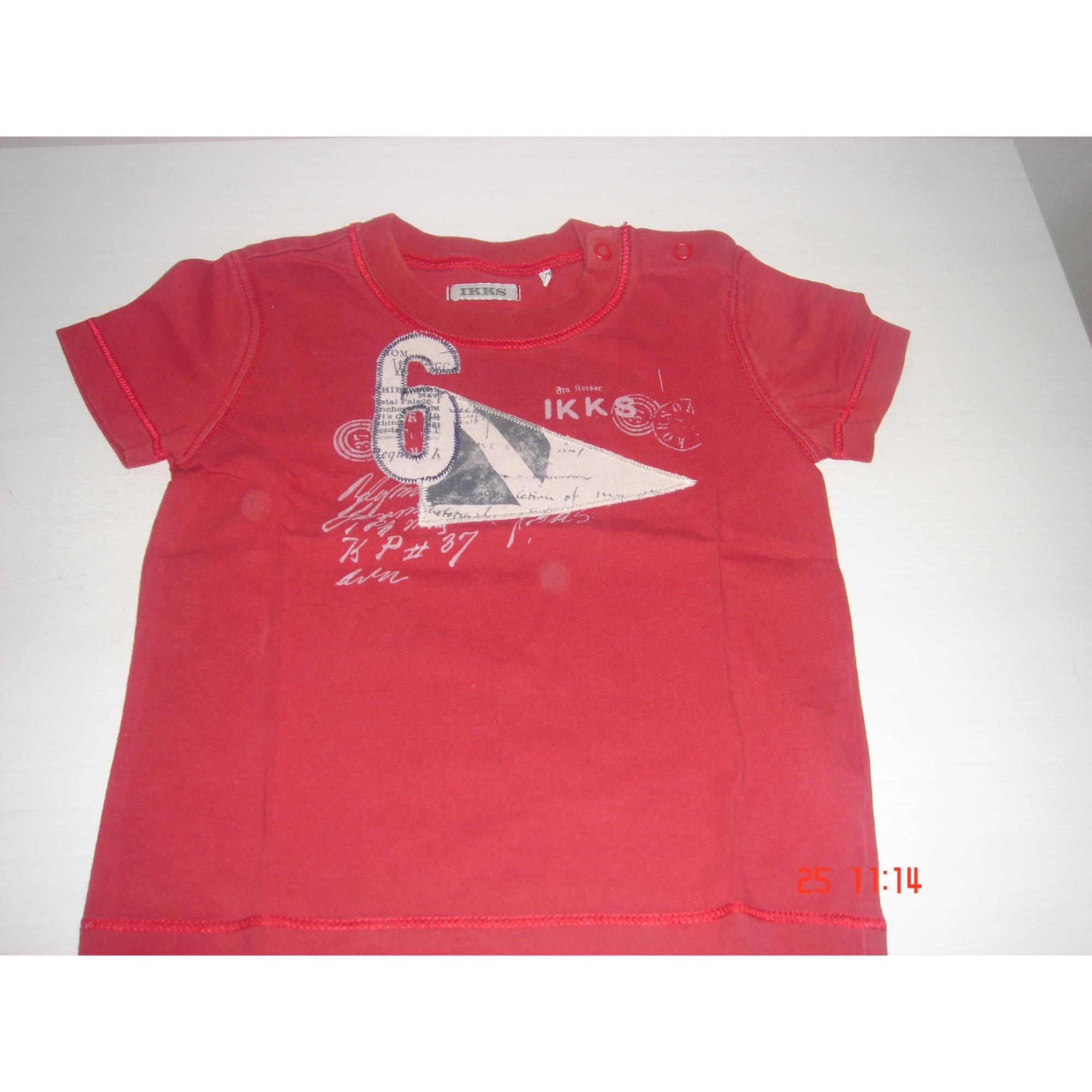 Top, tee shirt IKKS Rouge, bordeaux