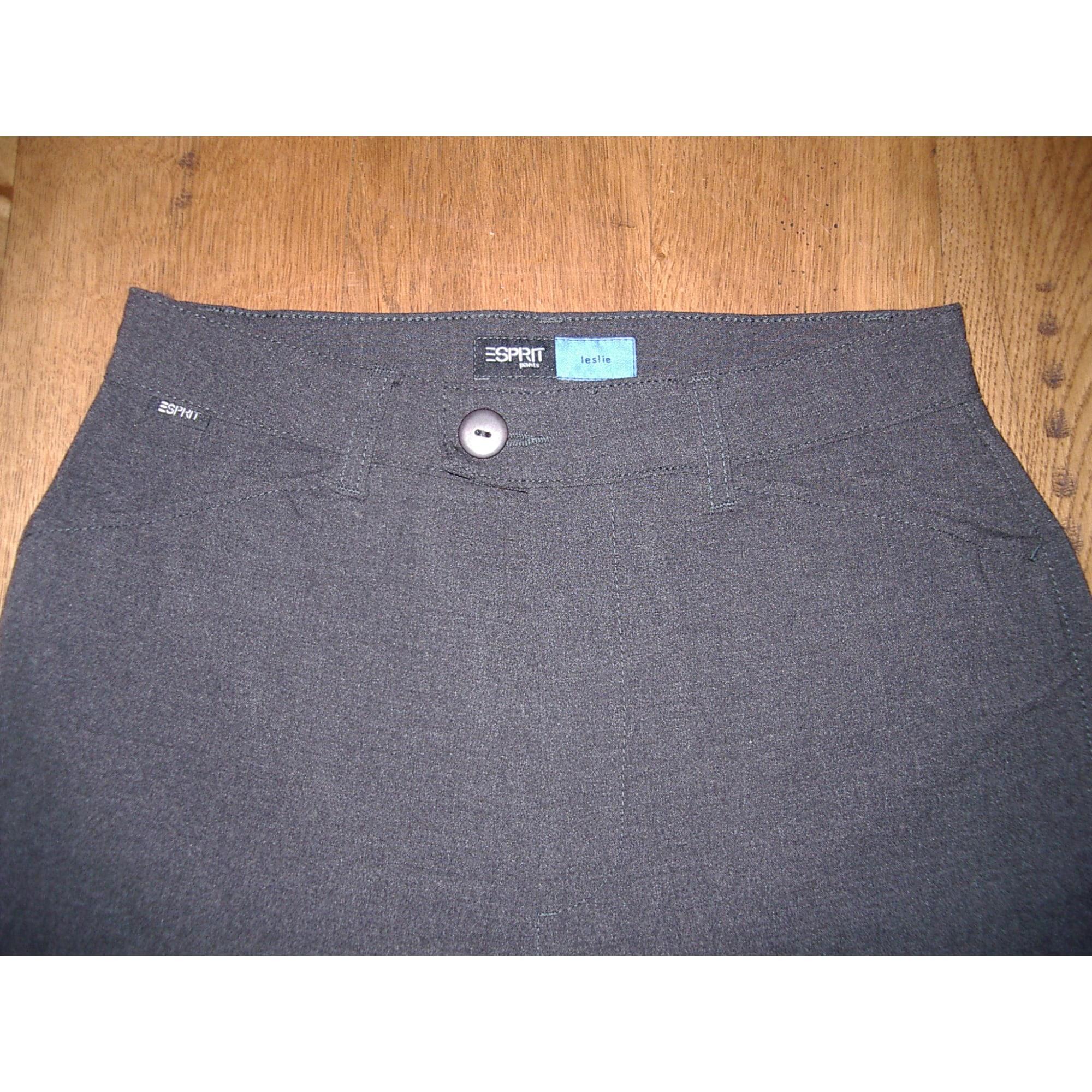 Pantalon droit ESPRIT Gris, anthracite