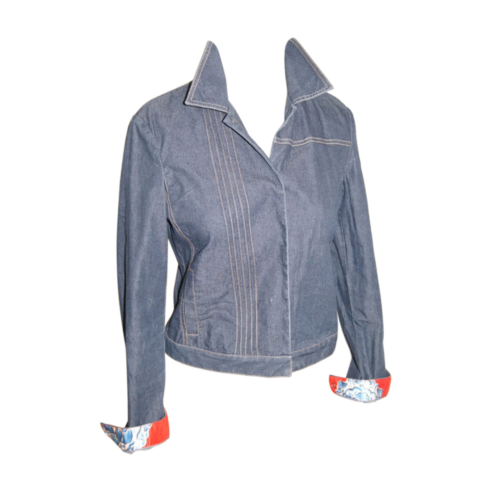 Veste en jean KENZO Bleu, bleu marine, bleu turquoise