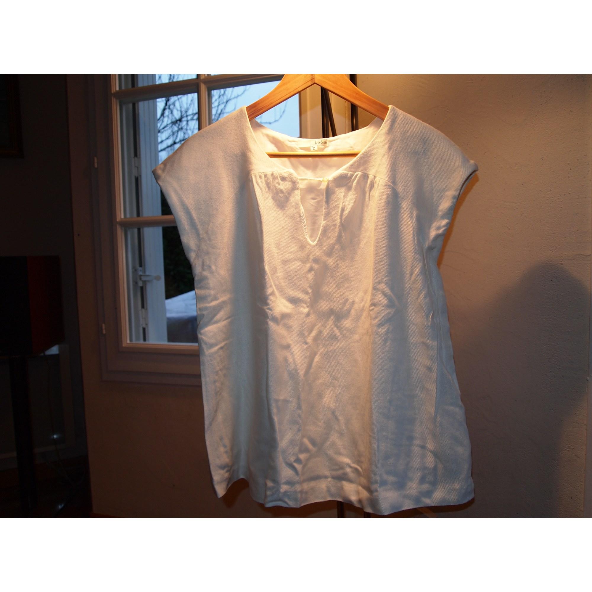 Top, tee-shirt BA&SH Blanc, blanc cassé, écru