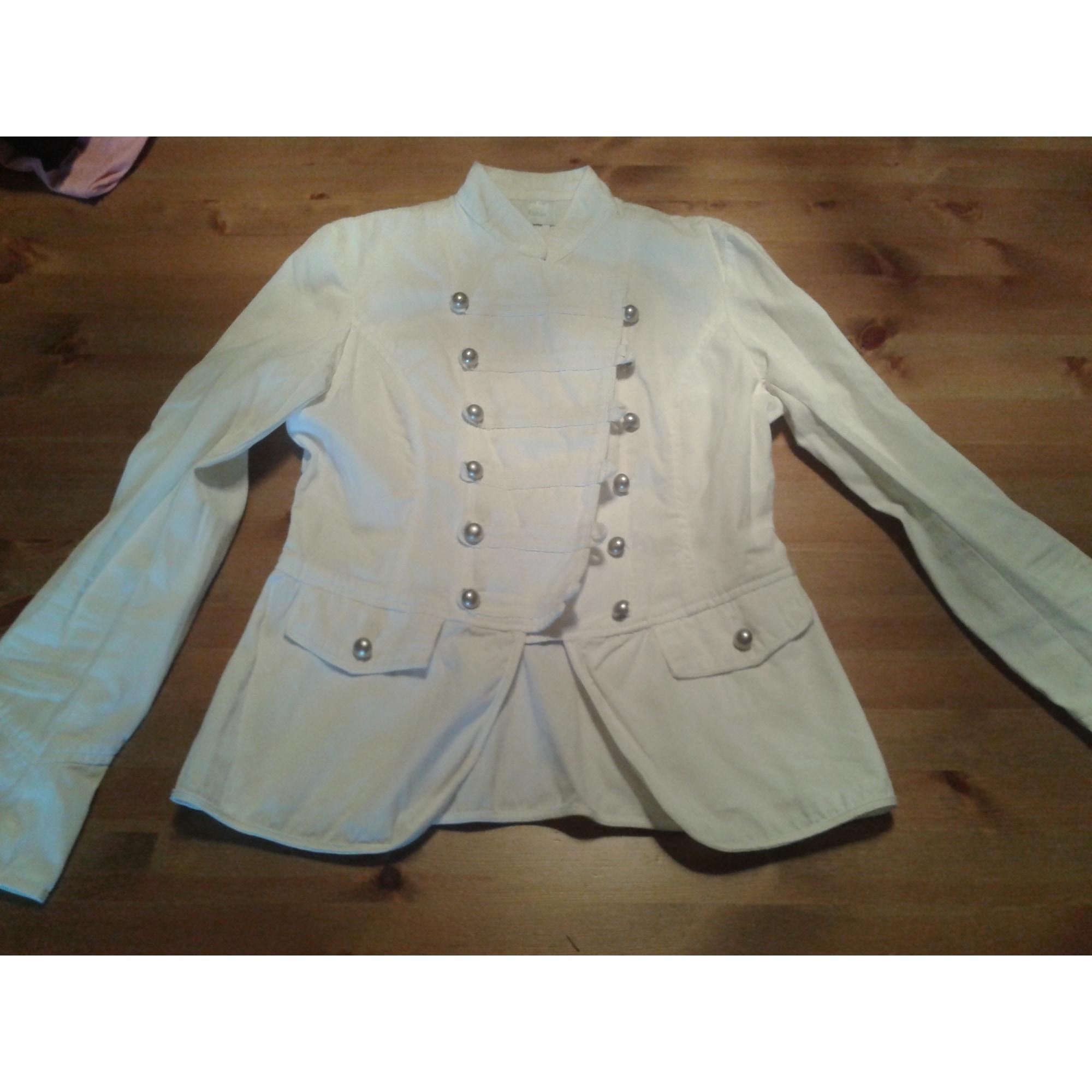 Blazer, veste tailleur CAMAIEU Blanc, blanc cassé, écru