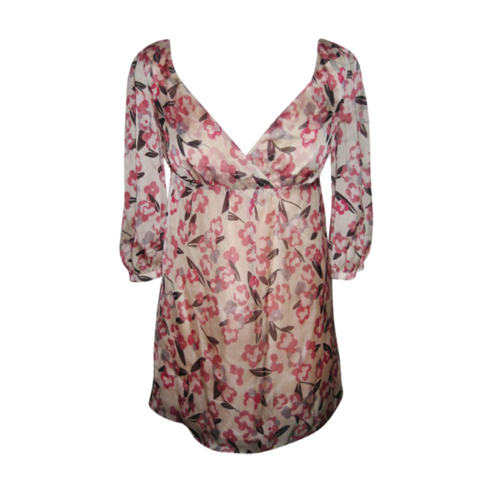 Robe tunique TARA JARMON beige , rose , blanc cassé