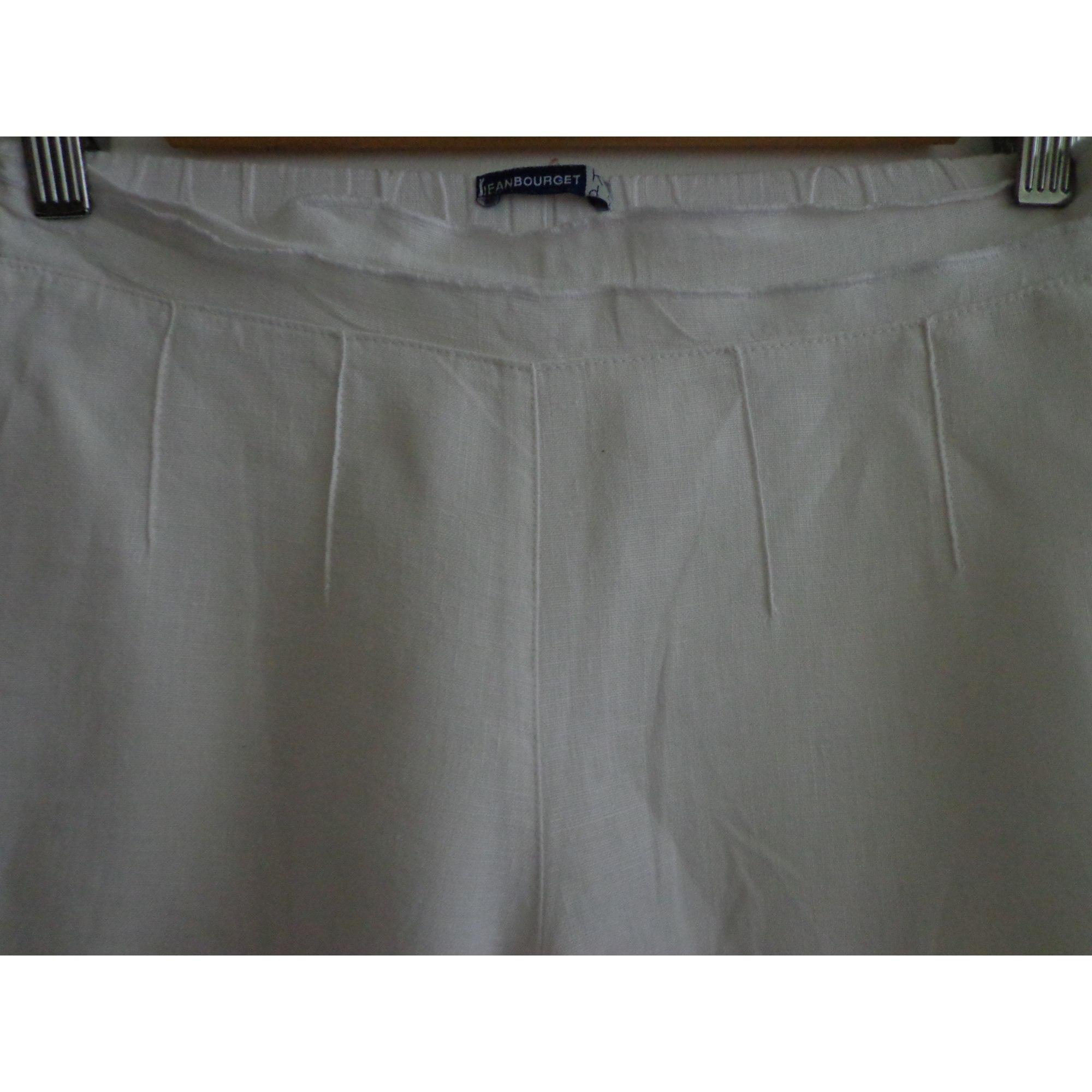Pantacourt, corsaire JEAN BOURGET Blanc, blanc cassé, écru