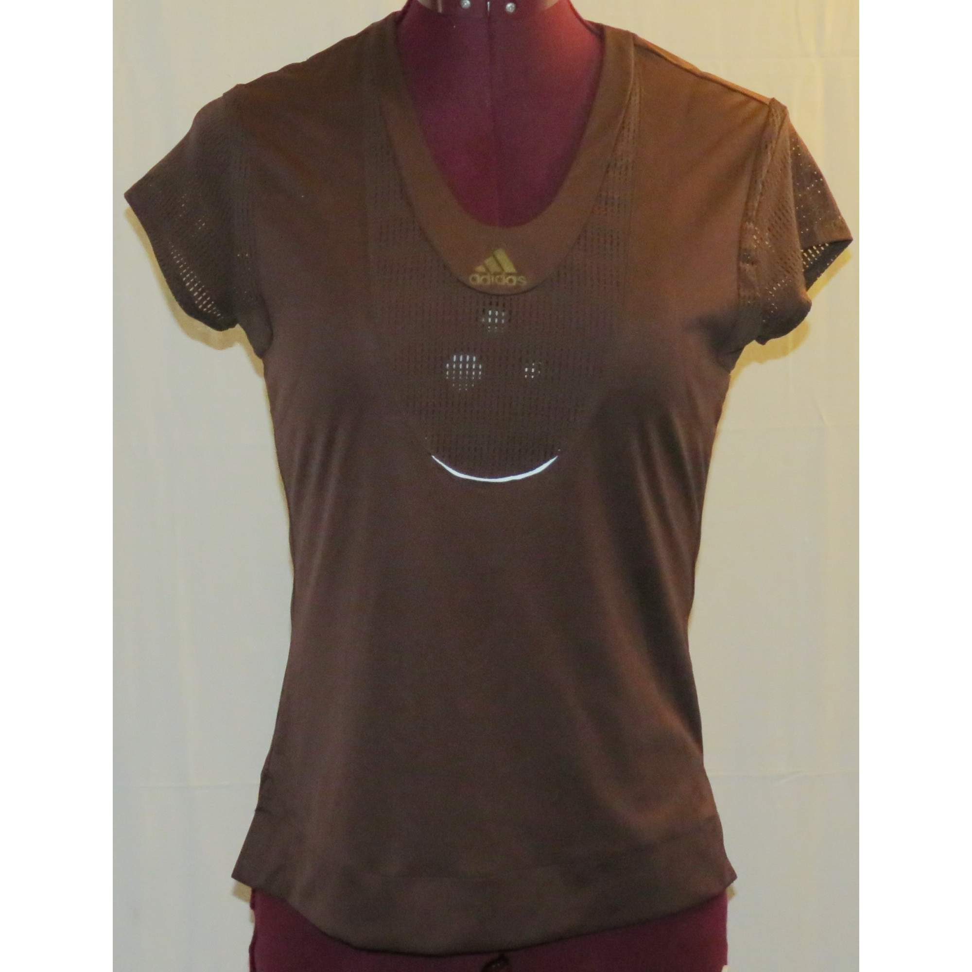 Top, tee-shirt ADIDAS Violet, mauve, lavande