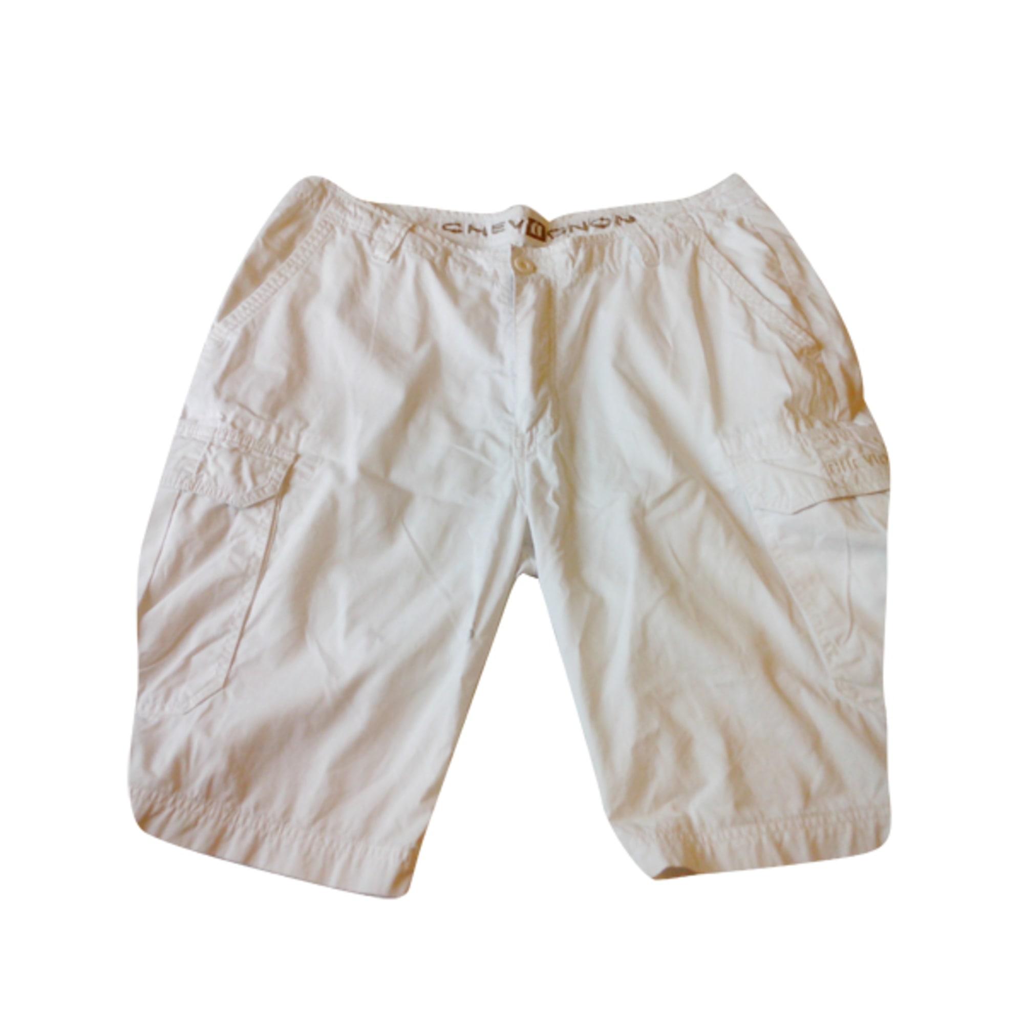 Bermuda CHEVIGNON Blanc, blanc cassé, écru