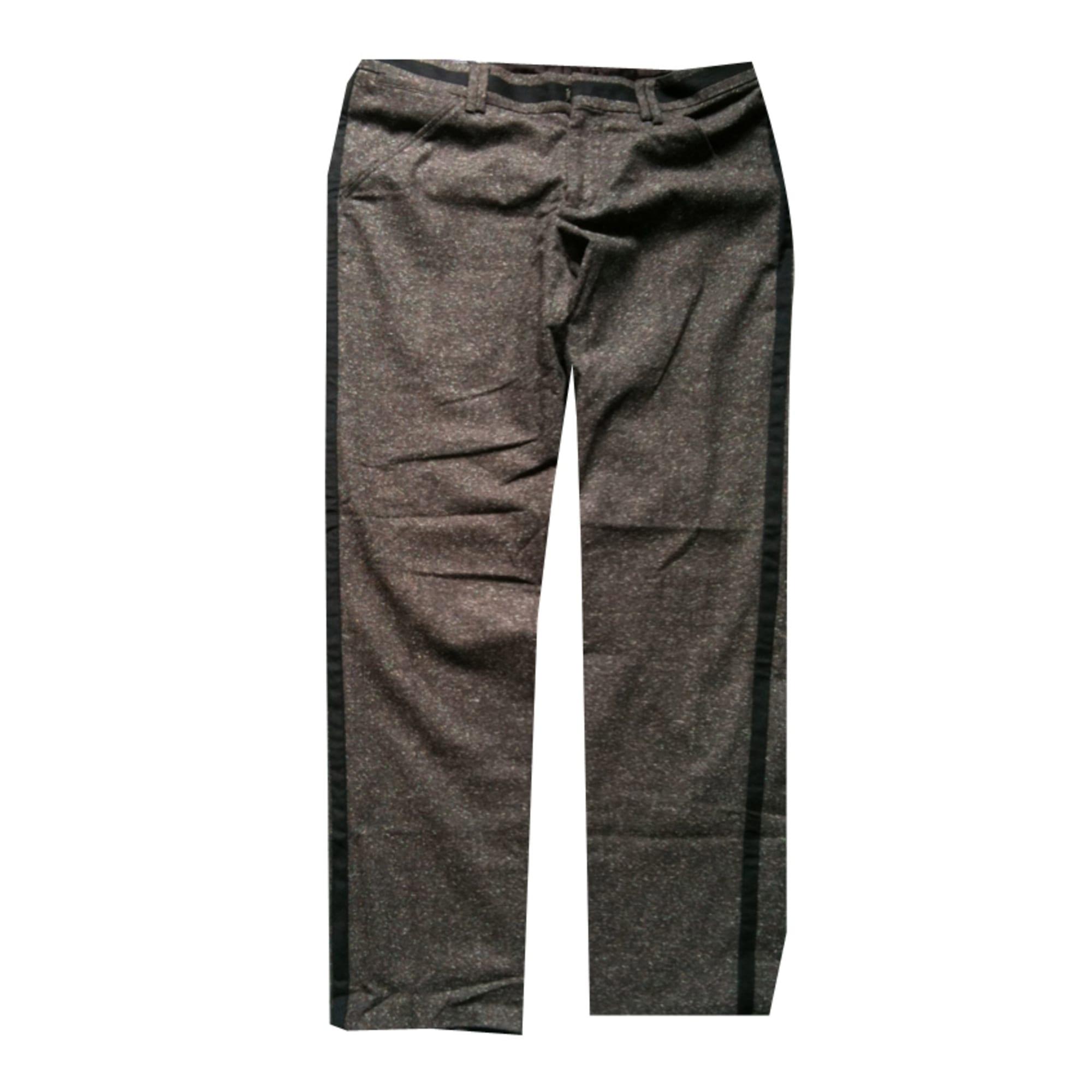Pantalon droit DOLCE & GABBANA Marron