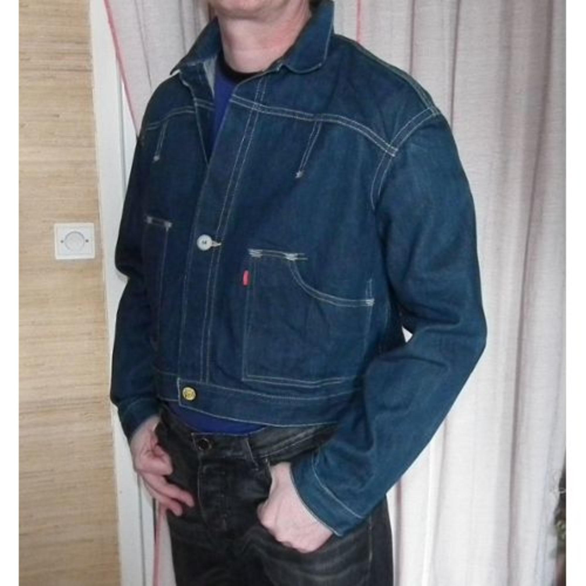 Blouson en jean LEVI'S Bleu, bleu marine, bleu turquoise
