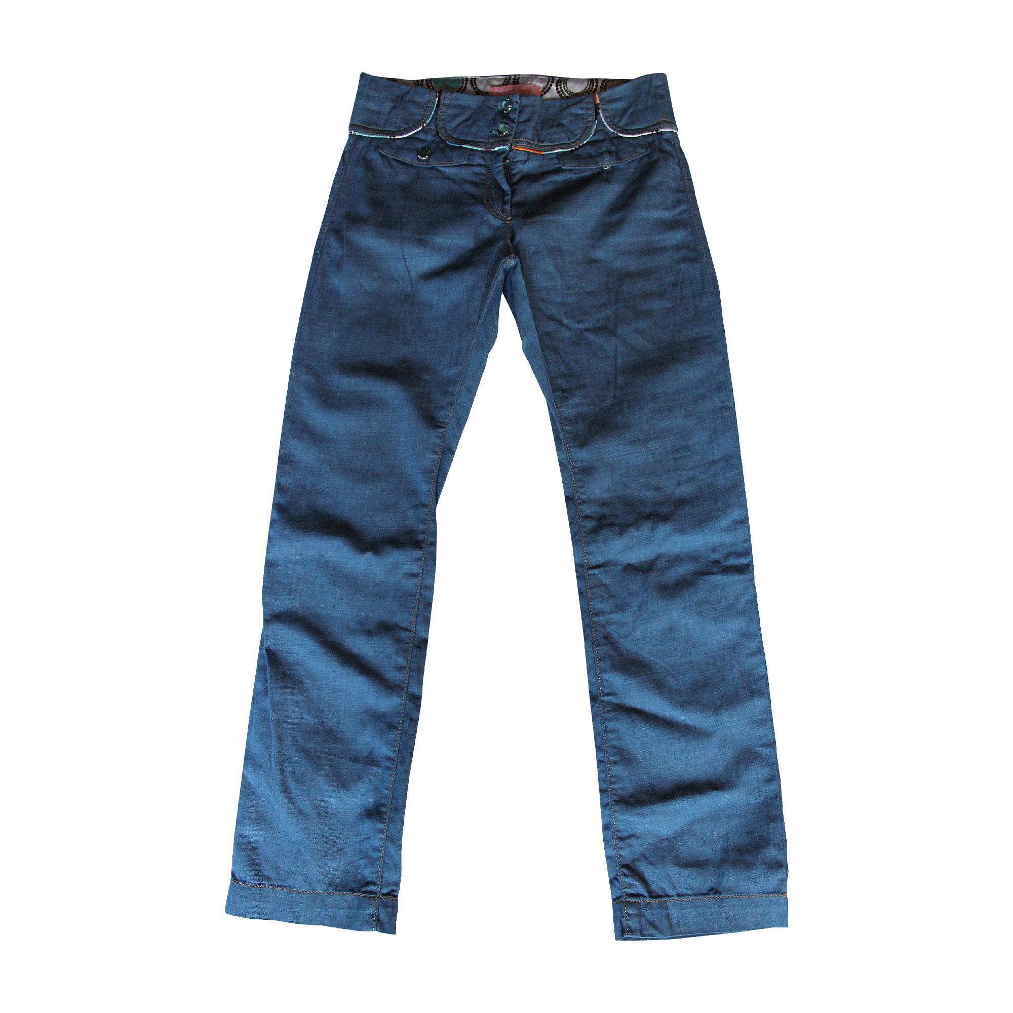 Pantalon ESCADA Bleu, bleu marine, bleu turquoise