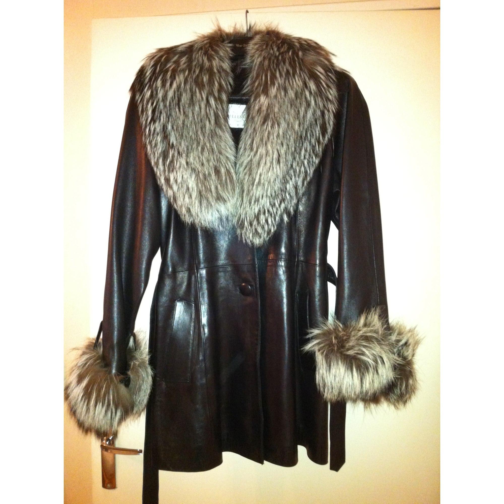 Manteau en cuir PELLESIMO Noir