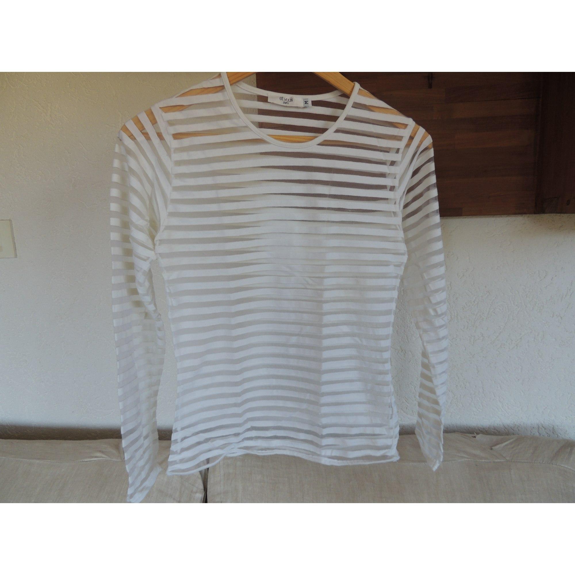 Top, tee-shirt ET VOUS Blanc, blanc cassé, écru