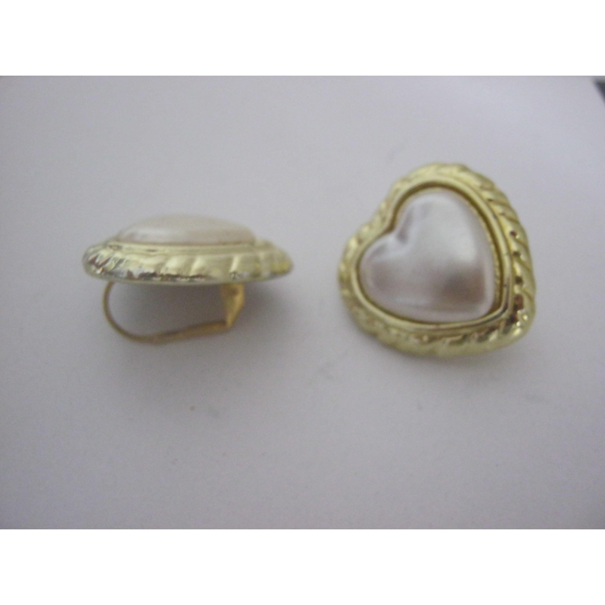 Boucles d'oreille CLAIRE'S Doré, bronze, cuivre