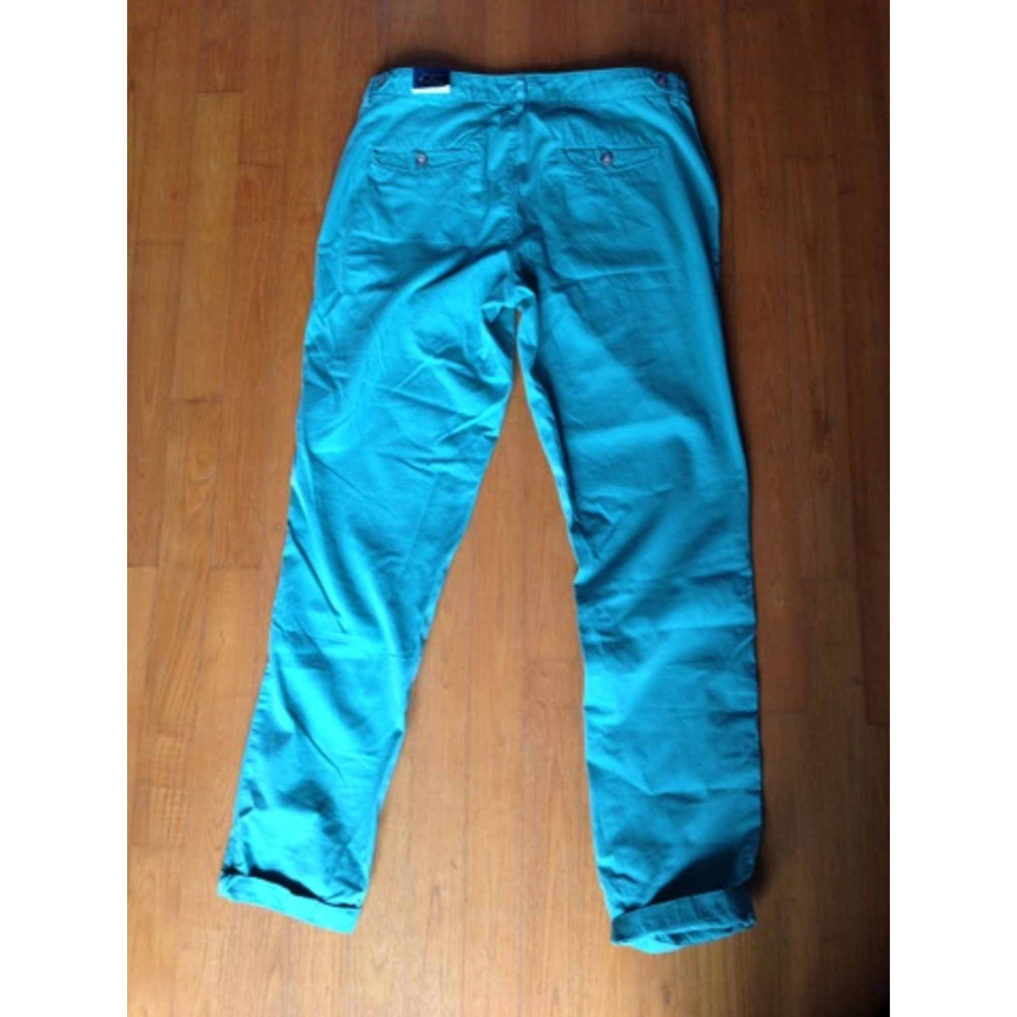 Pantalon carotte ZARA Vert