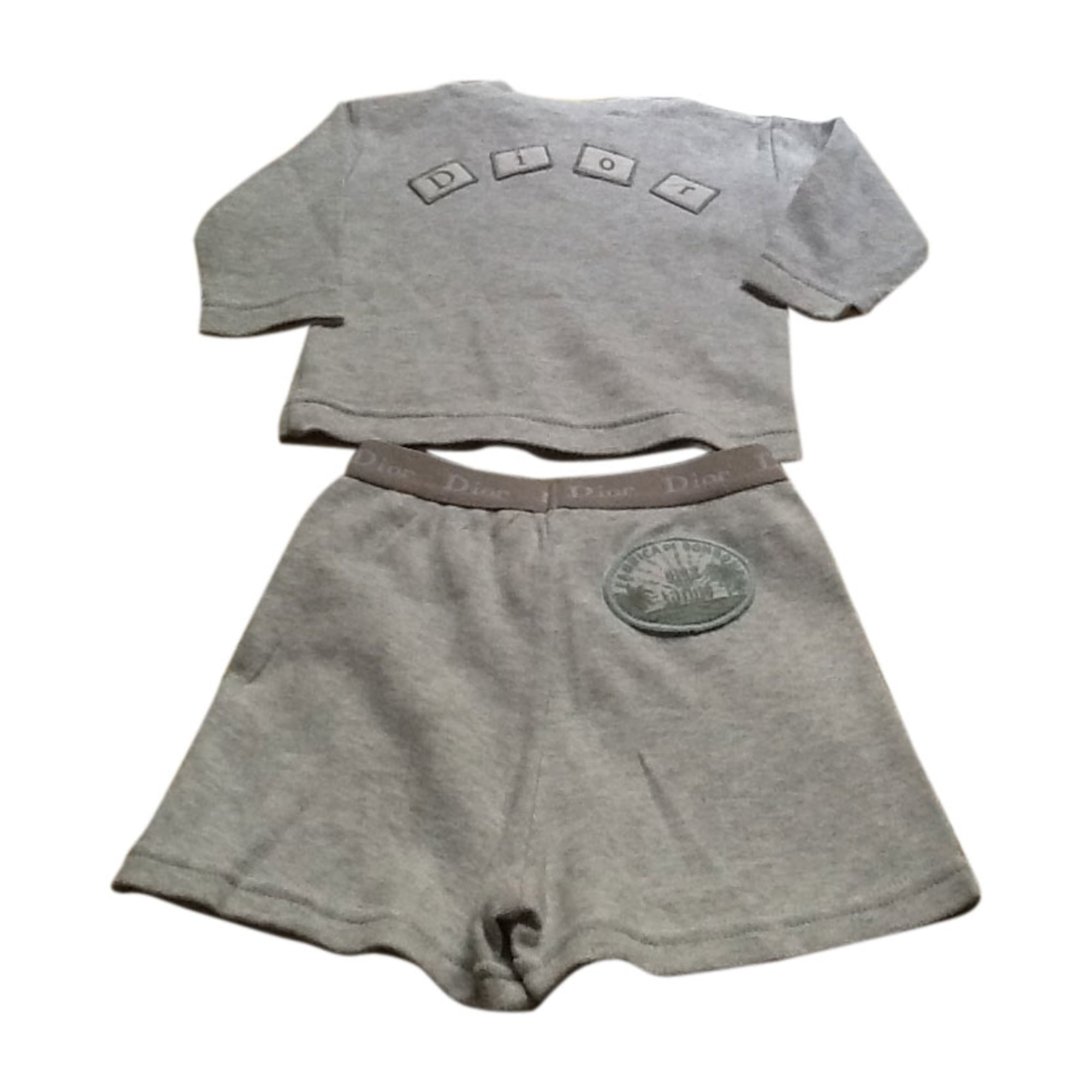Shorts Set, Outfit BABY DIOR Gray, charcoal