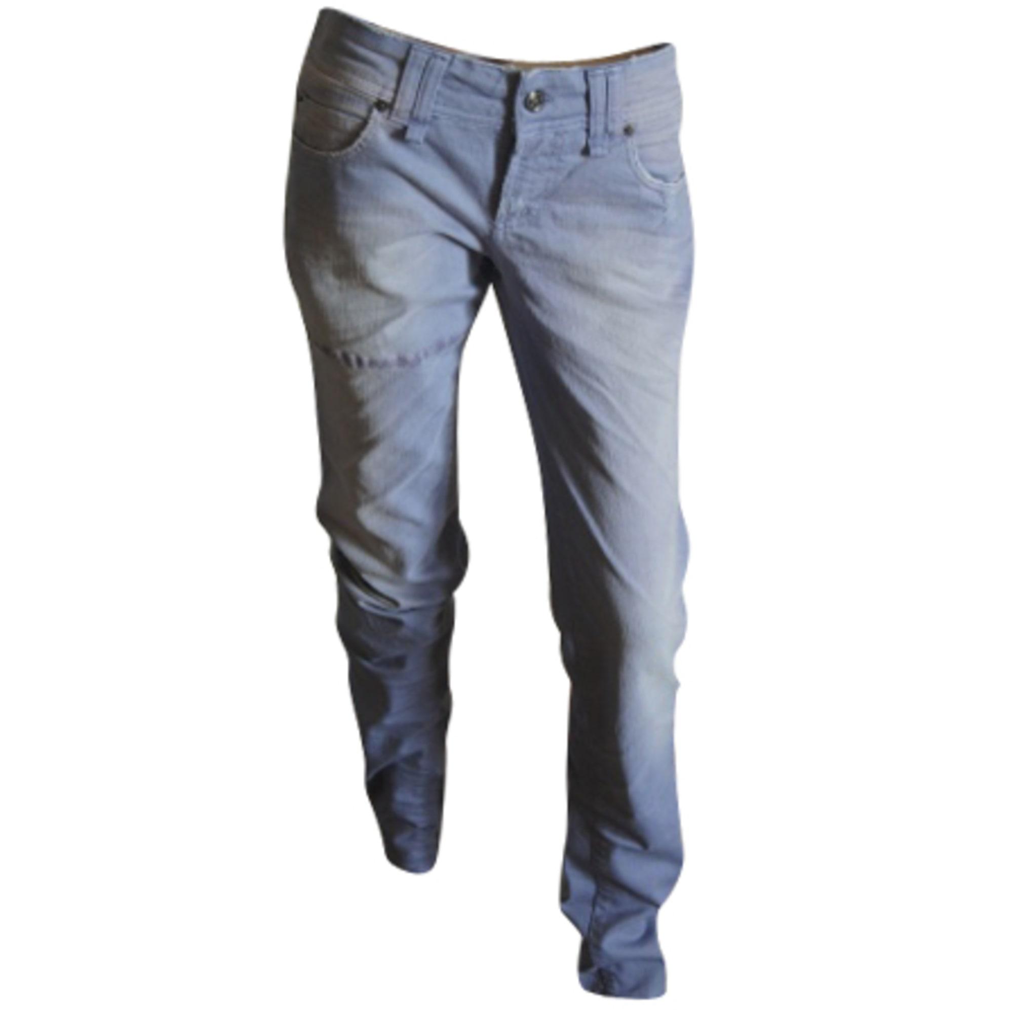 Jeans slim JOHN GALLIANO Violet, mauve, lavande