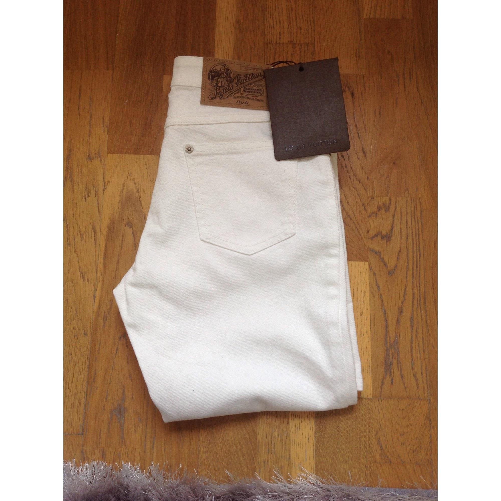 Jeans évasé, boot-cut LOUIS VUITTON Blanc, blanc cassé, écru