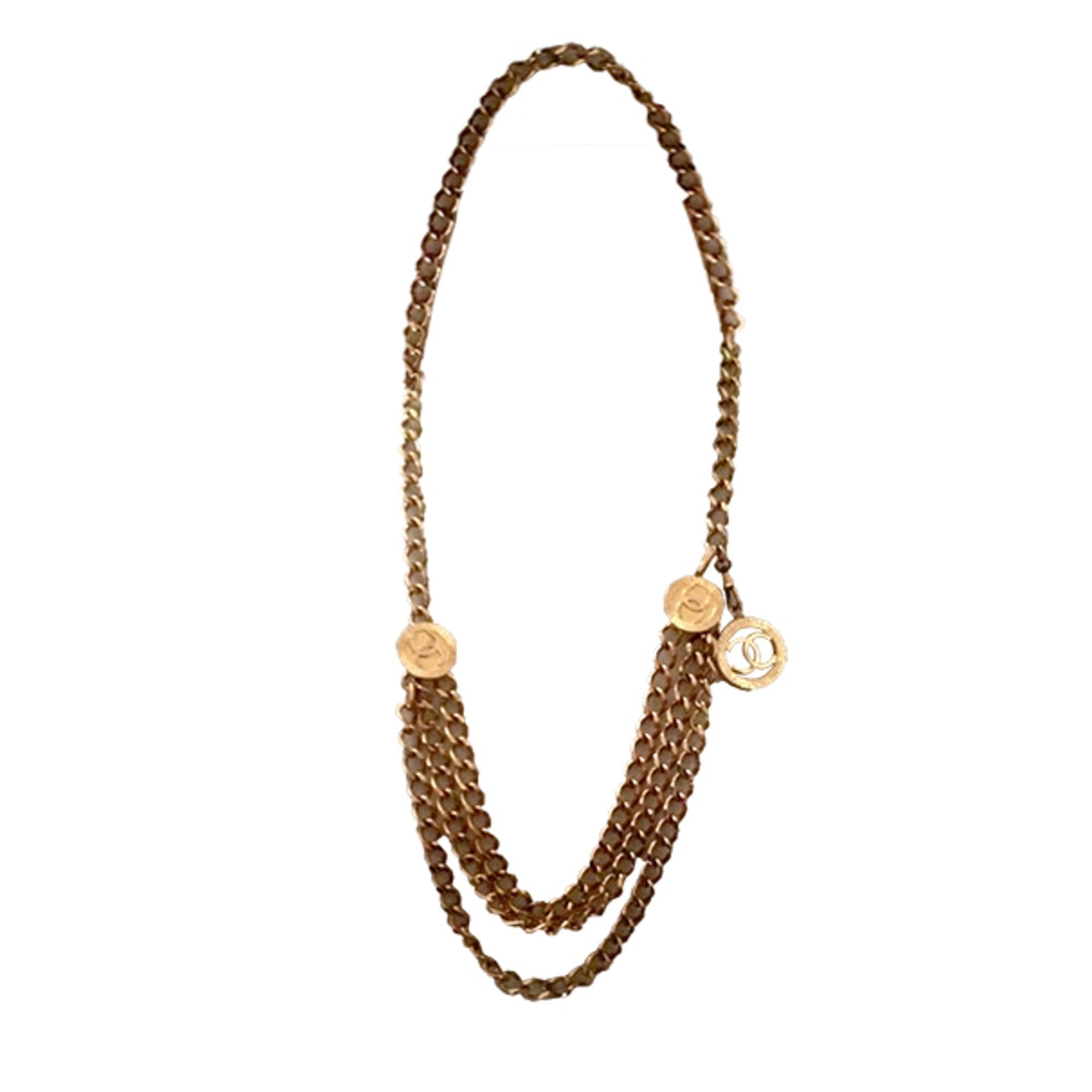 Kette CHANEL Gold, Bronze, Kupfer