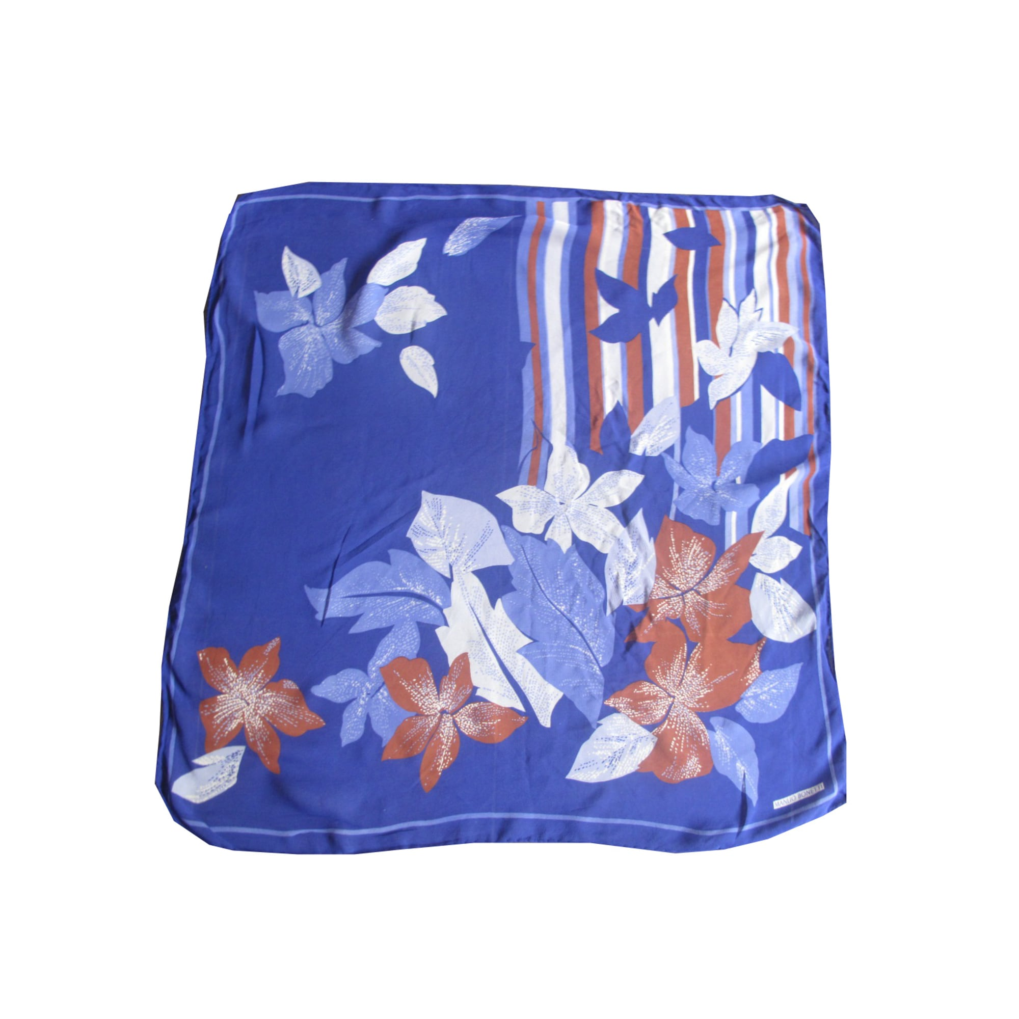 Foulard MANLIO BONETTI Bleu, bleu marine, bleu turquoise