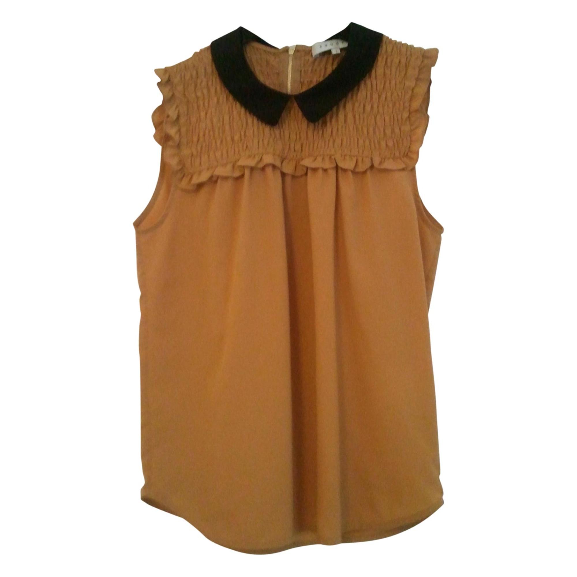 Top, tee-shirt SANDRO Beige, camel