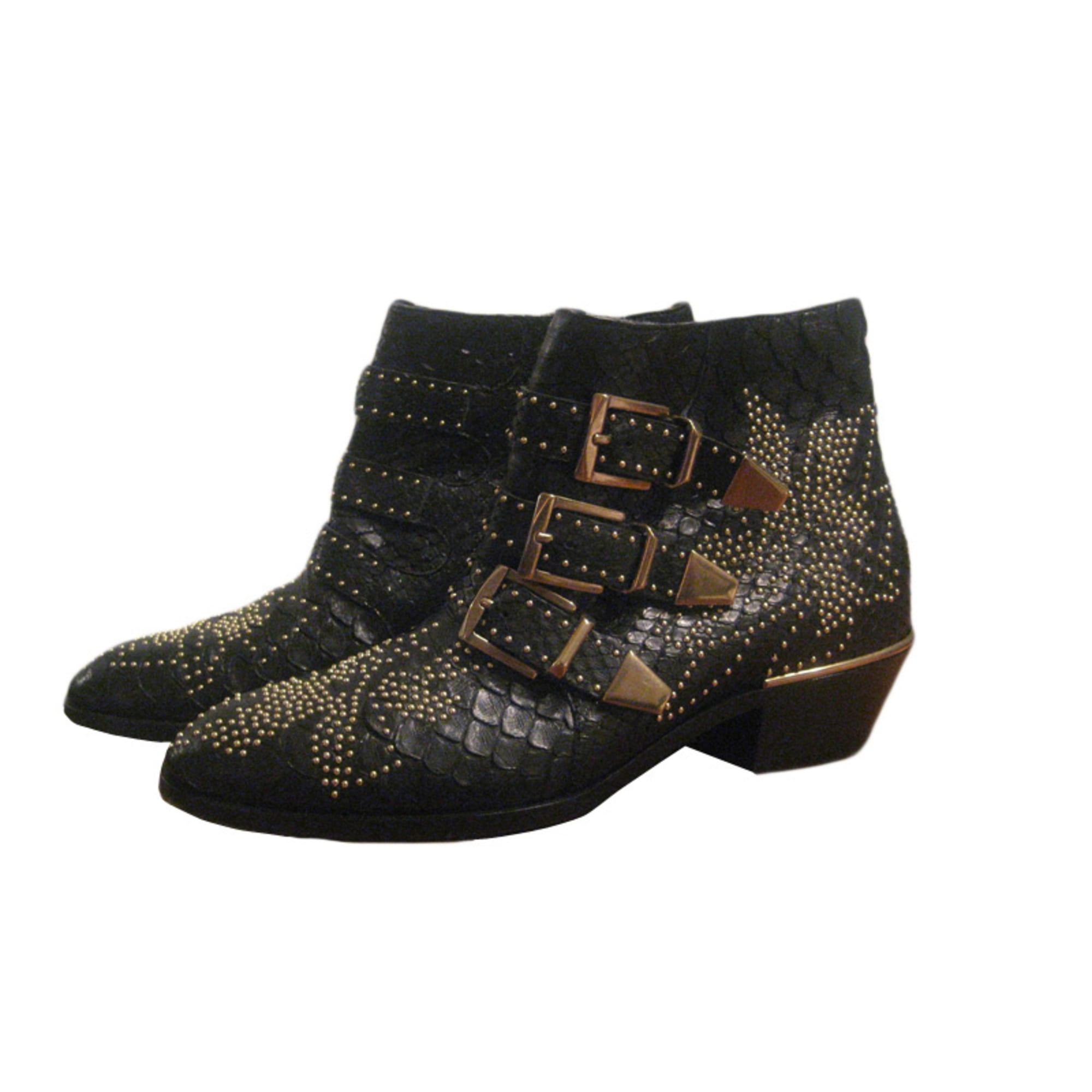 Santiags, bottines, low boots cowboy CHLOÉ Noir