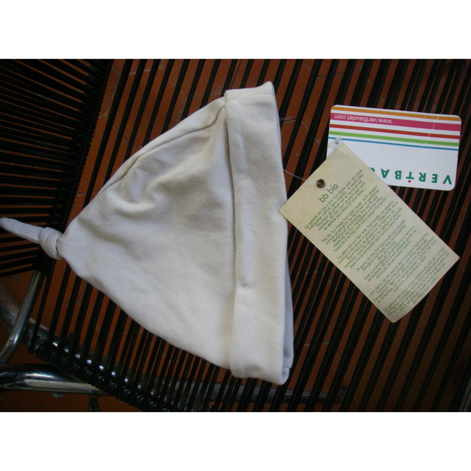 Bonnet VERTBAUDET Blanc, blanc cassé, écru