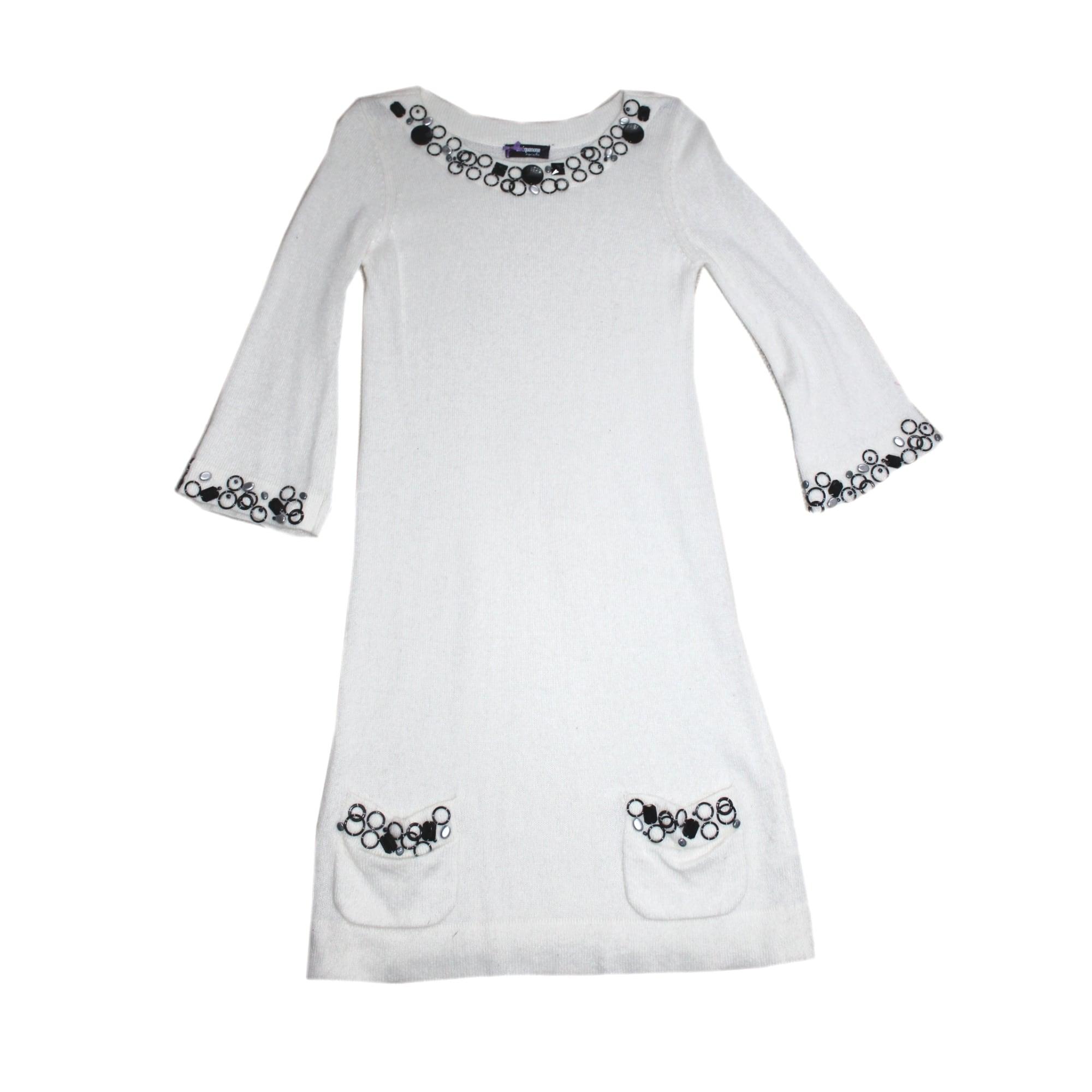 Robe pull SINÉQUANONE Blanc, blanc cassé, écru