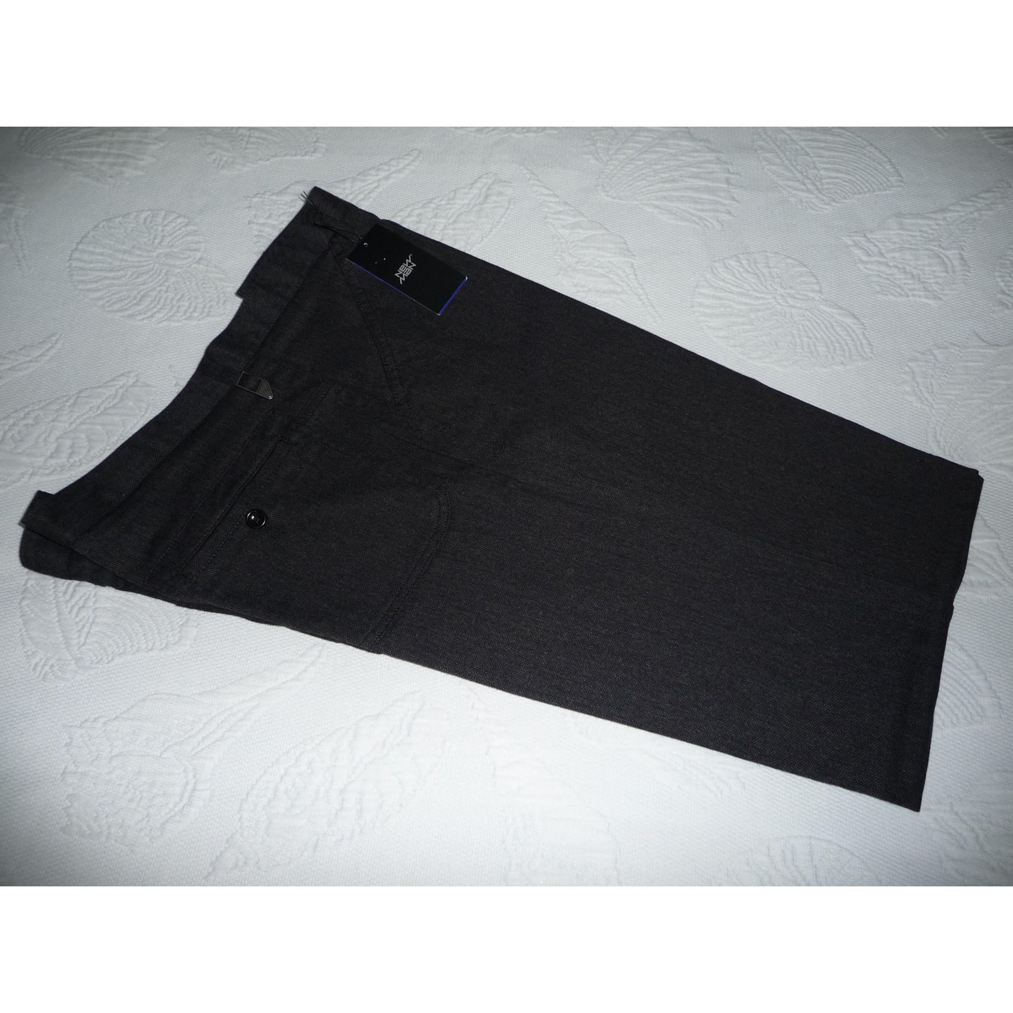 Pantalon droit NEW MAN Gris, anthracite