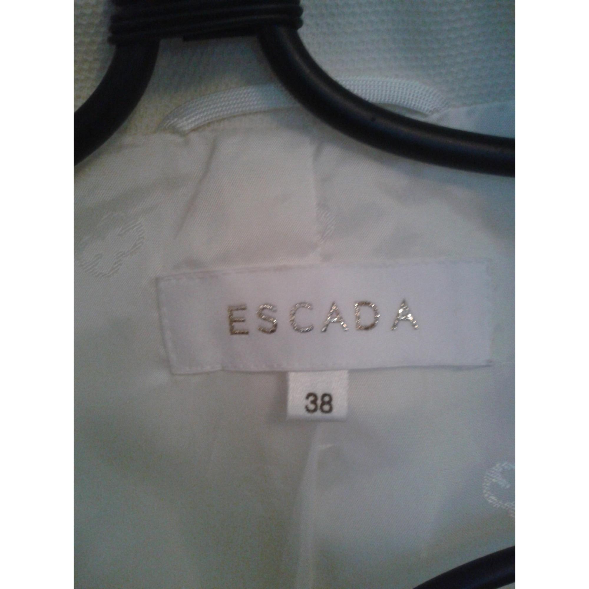 Tailleur pantalon ESCADA Blanc, blanc cassé, écru