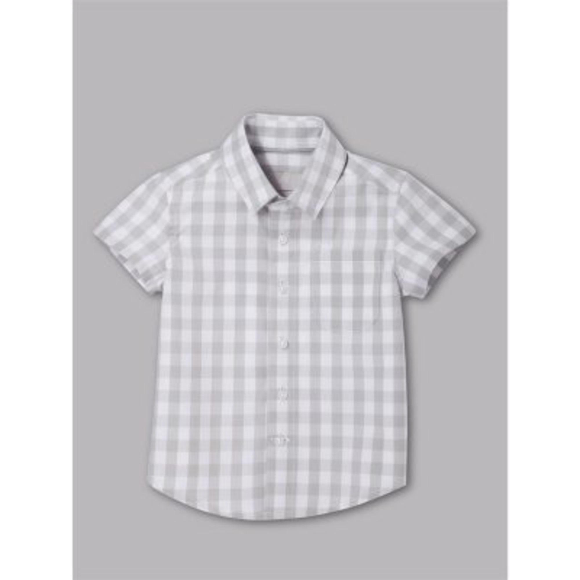 Blouse, Short-sleeved Shirt CYRILLUS Gray, charcoal