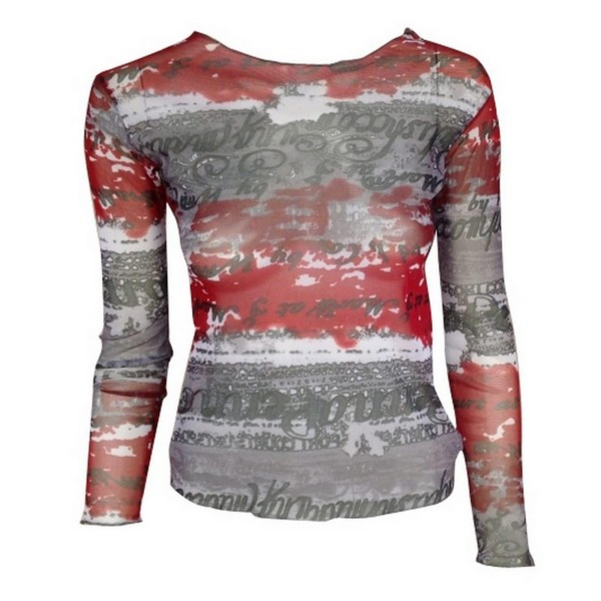 Top, tee-shirt LES FEUX DE LA MODE Rouge, bordeaux