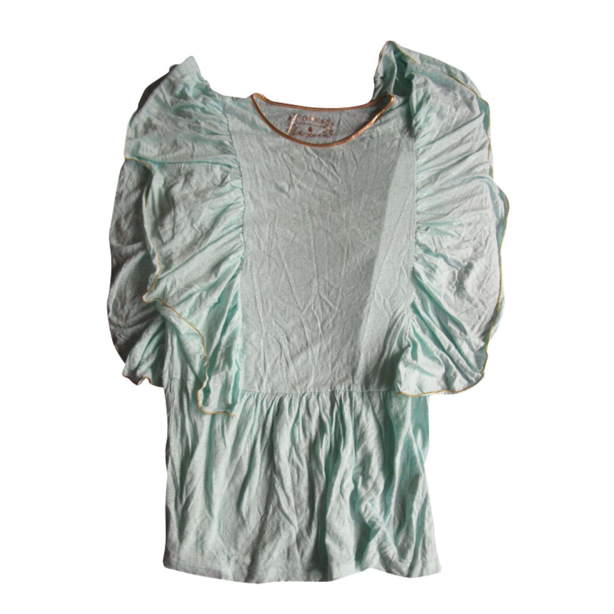 Top, tee-shirt MANOUSH Bleu, bleu marine, bleu turquoise