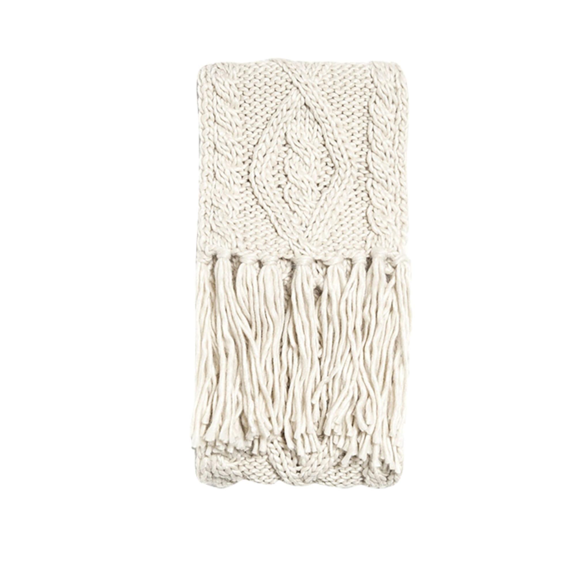Sciarpa ZARA Bianco, bianco sporco, ecru
