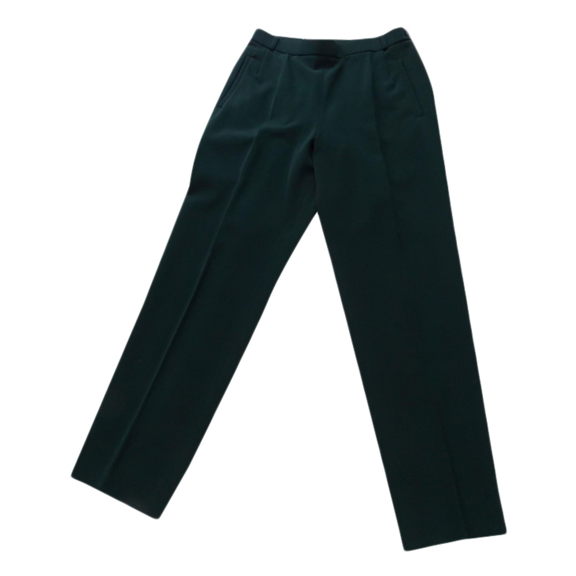 Pantalon slim, cigarette CAROLINE ROHMER Vert