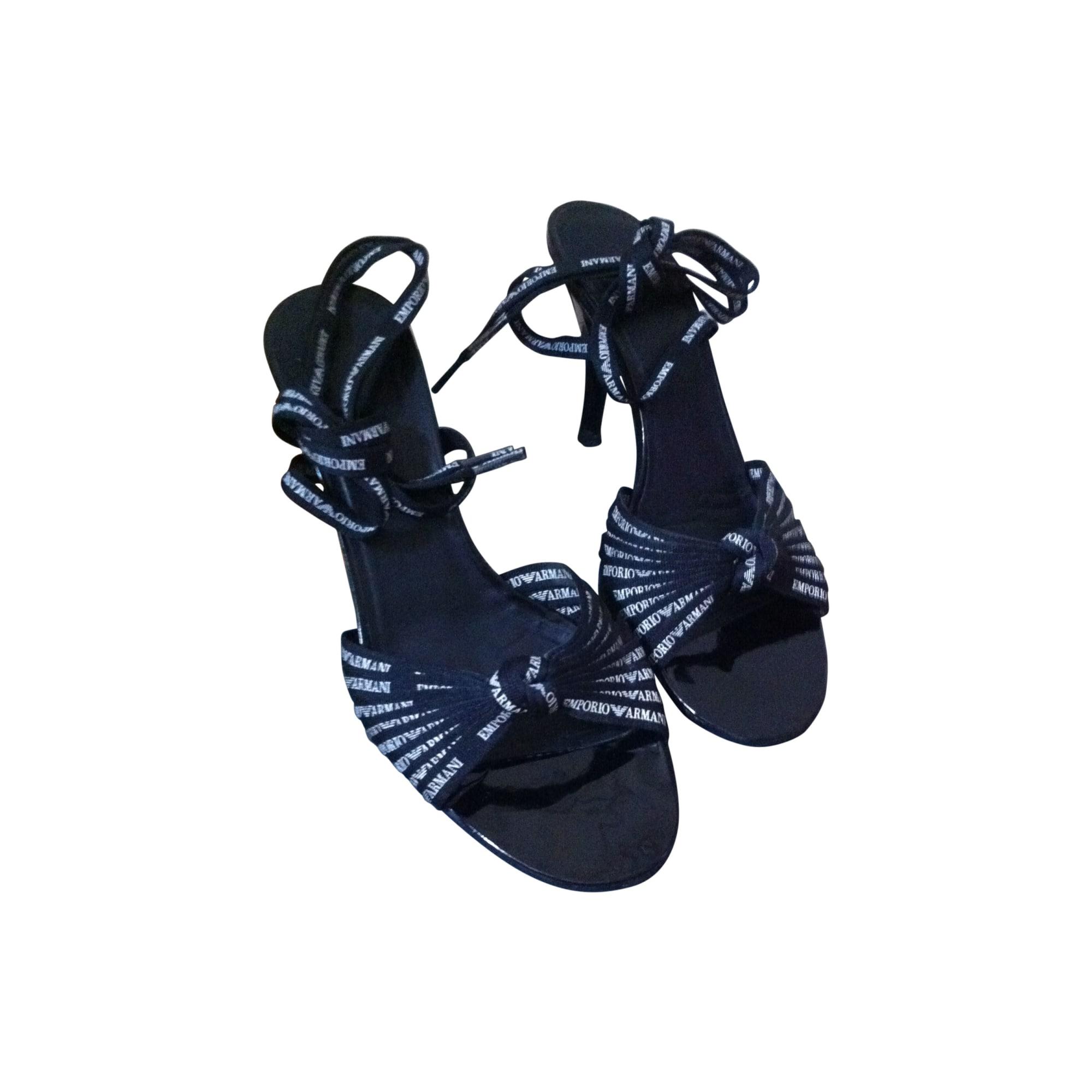 Sandales à talons EMPORIO ARMANI Noir
