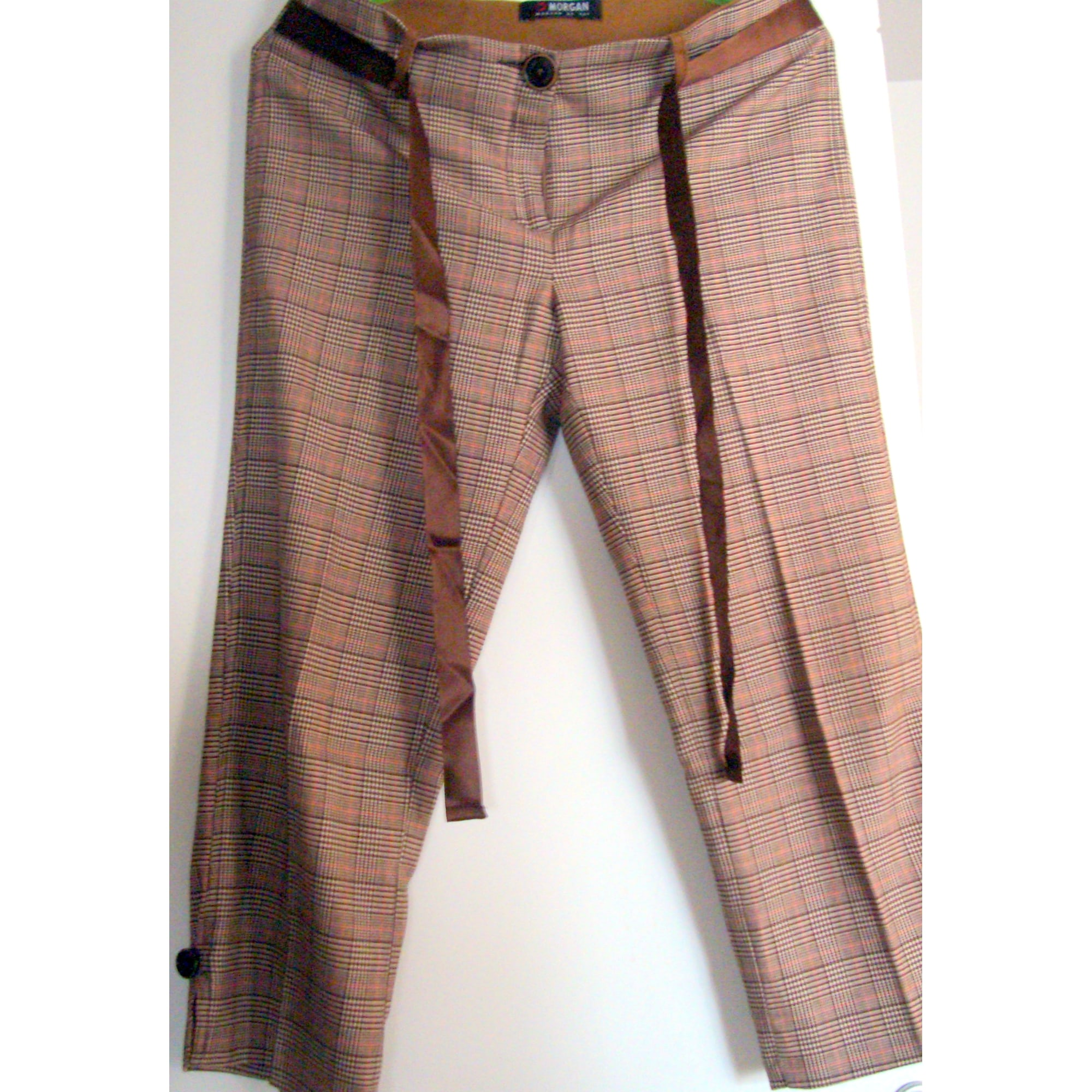 Pantalon droit MORGAN Marron