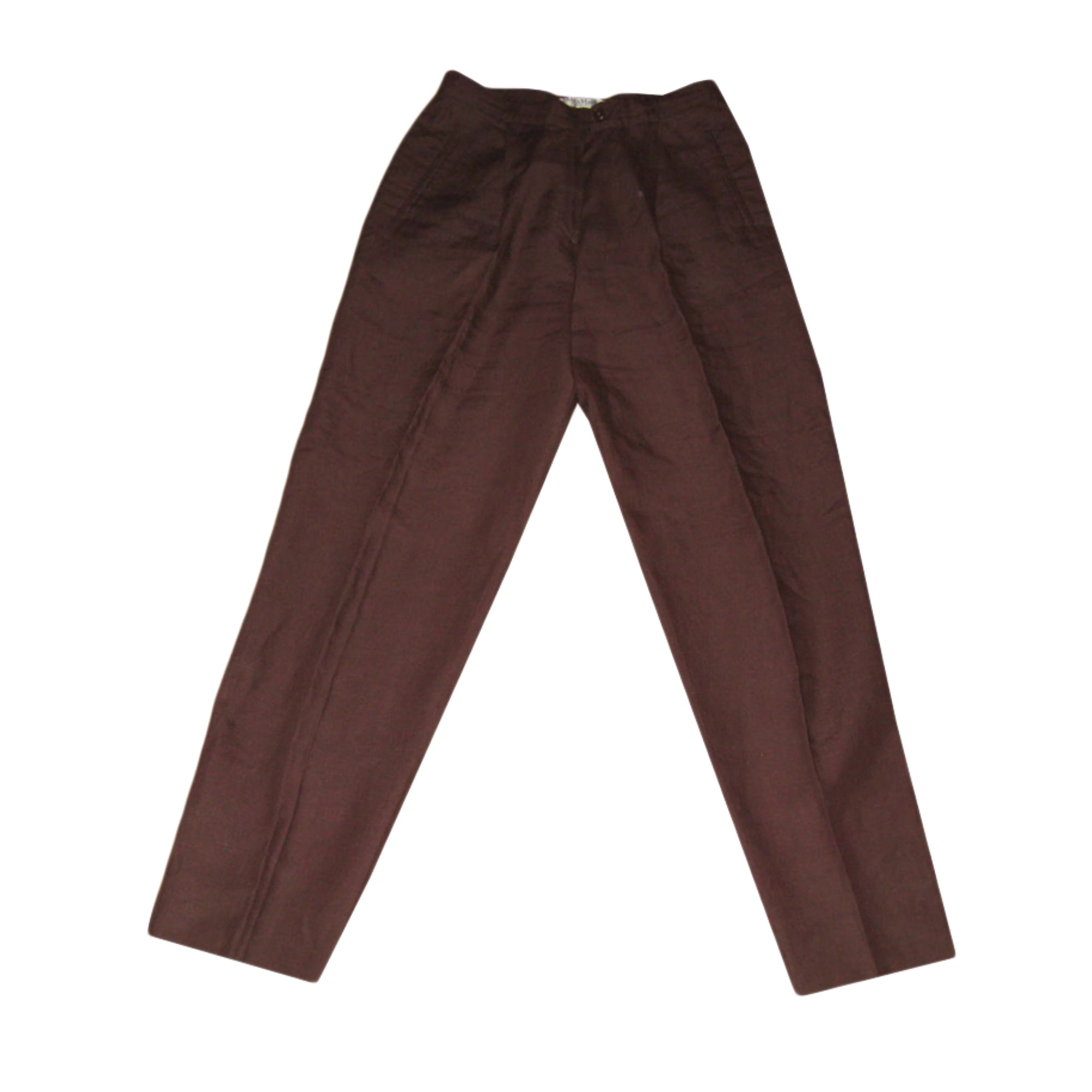 Pantalon droit MAX MARA Marron
