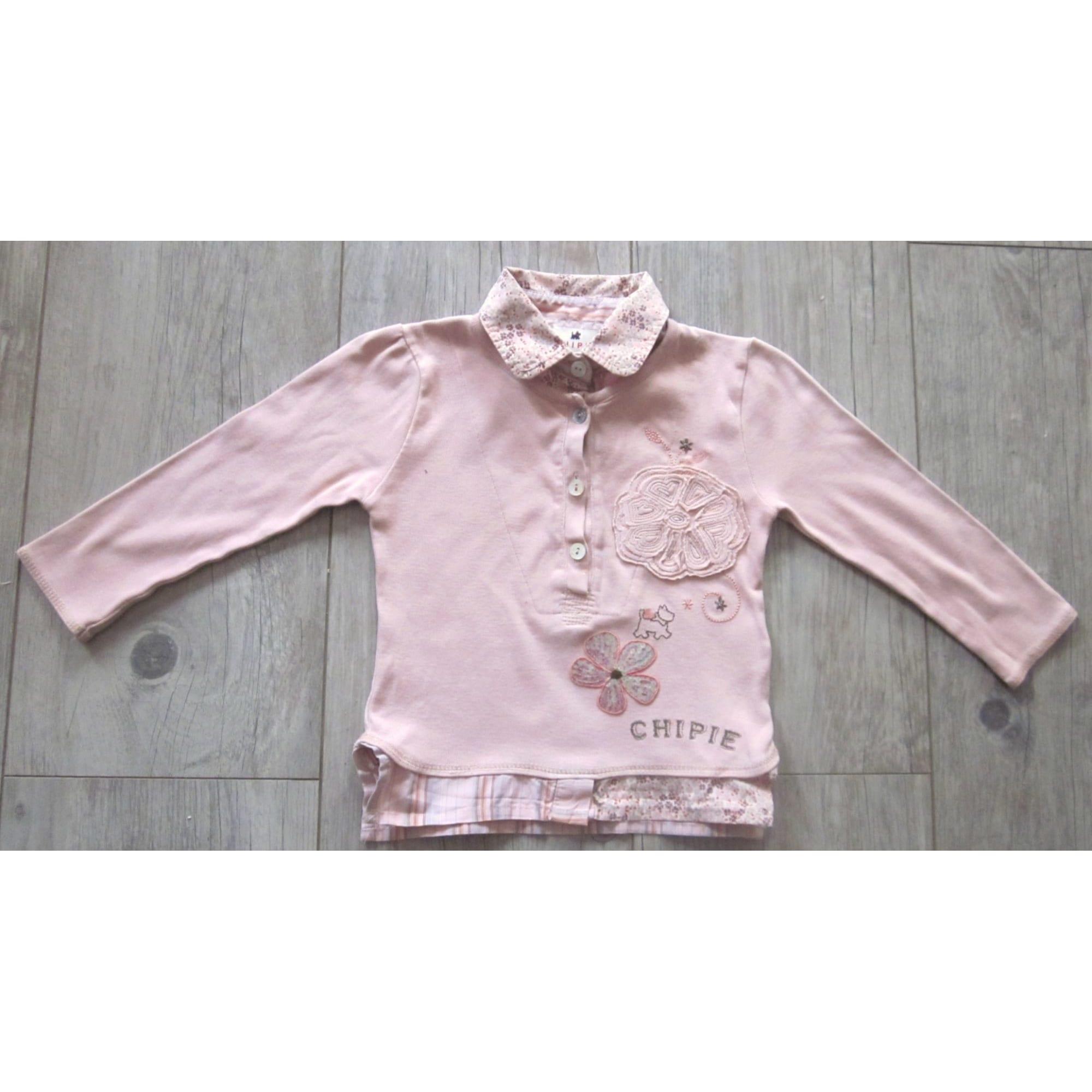 Top, Tee-shirt CHIPIE Rose, fuschia, vieux rose