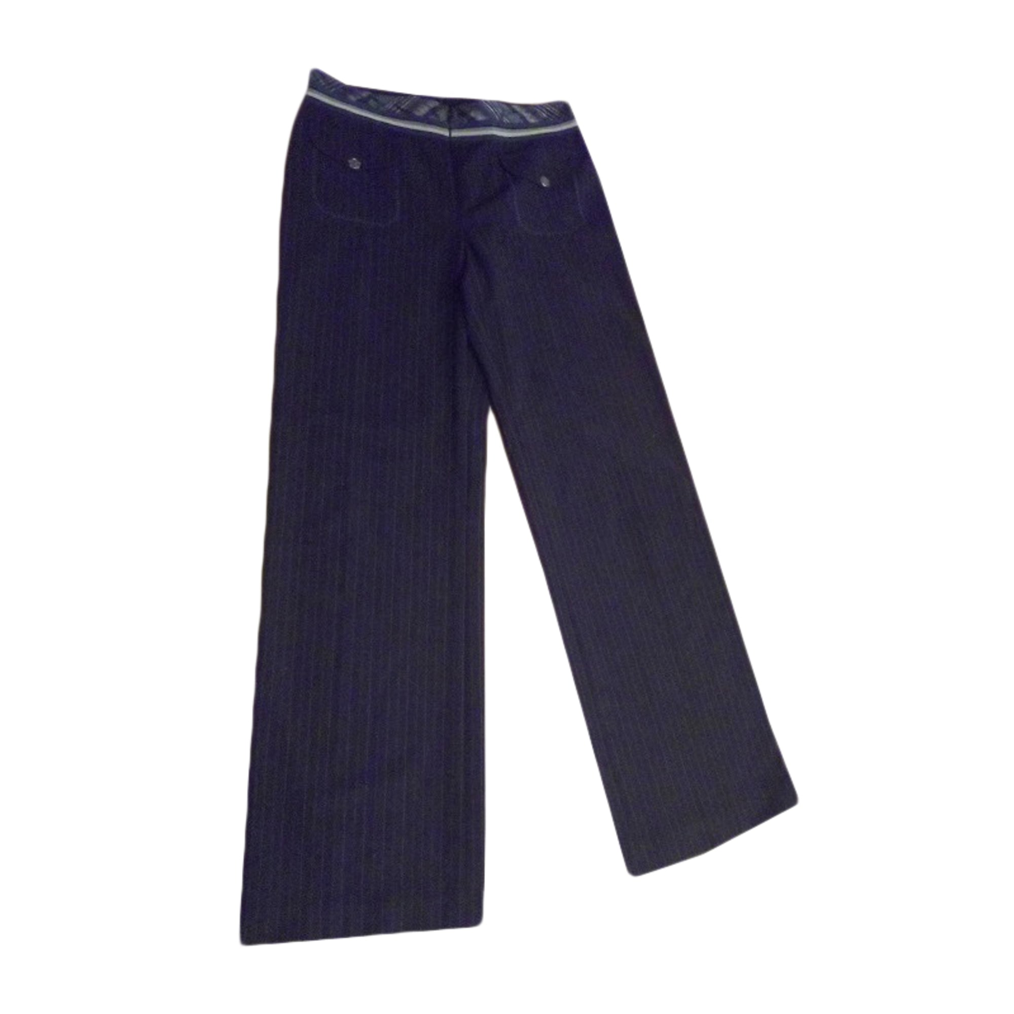Pantalon évasé BLEU BLANC ROUGE Noir