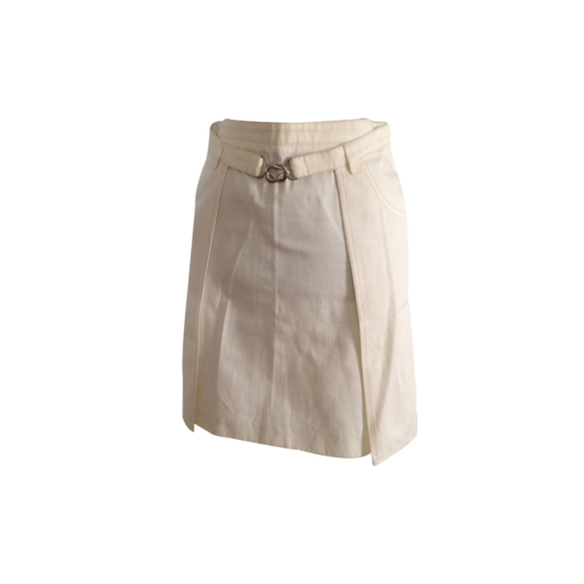 Jupe courte BARBARA BUI Blanc, blanc cassé, écru