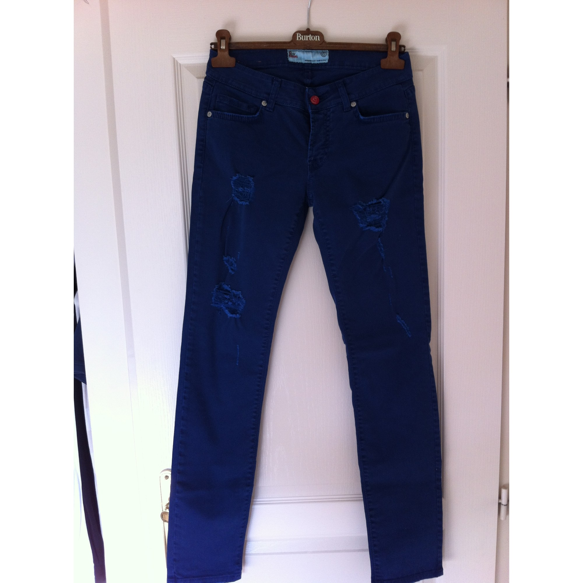 Jeans droit ROY ROGERS Bleu, bleu marine, bleu turquoise