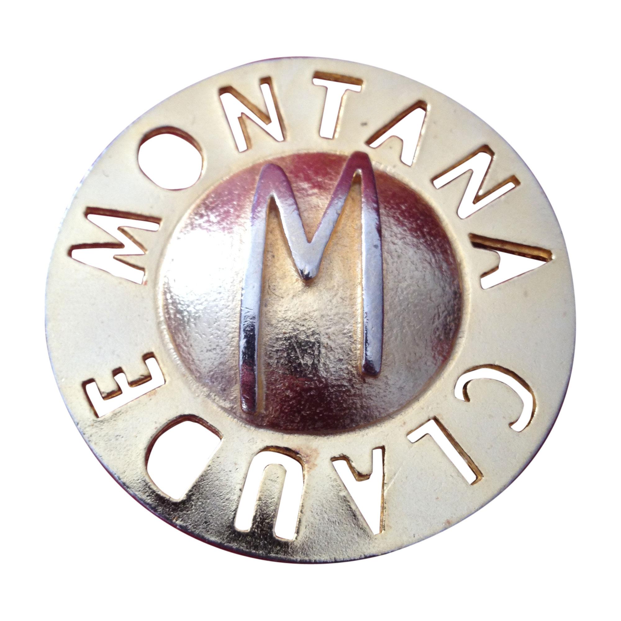 Broche MONTANA Doré, bronze, cuivre
