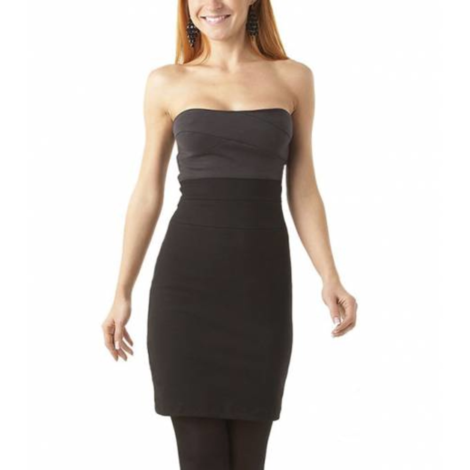 Robe bustier PROMOD Gris, anthracite