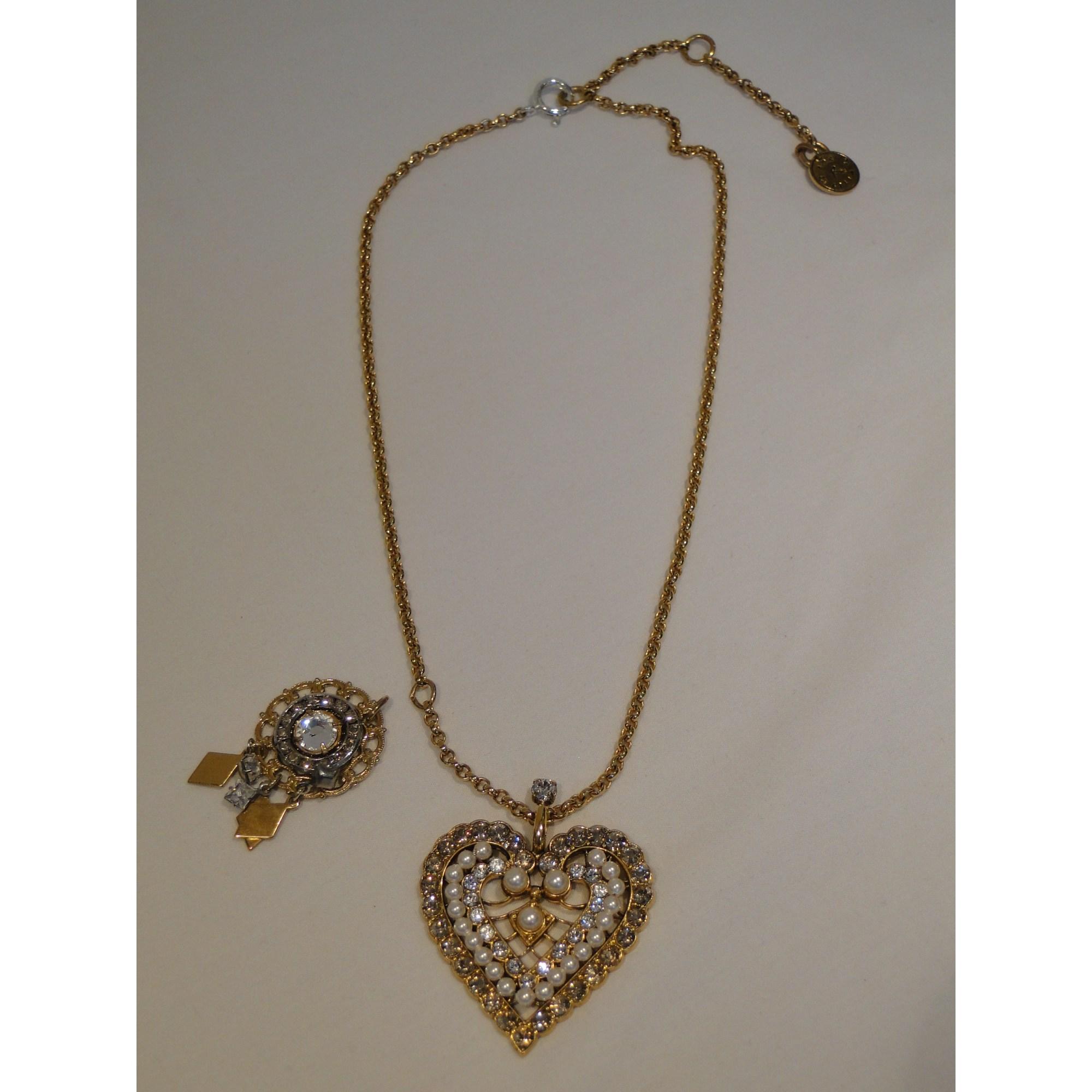 Pendentif, collier pendentif REMINISCENCE Doré, bronze, cuivre