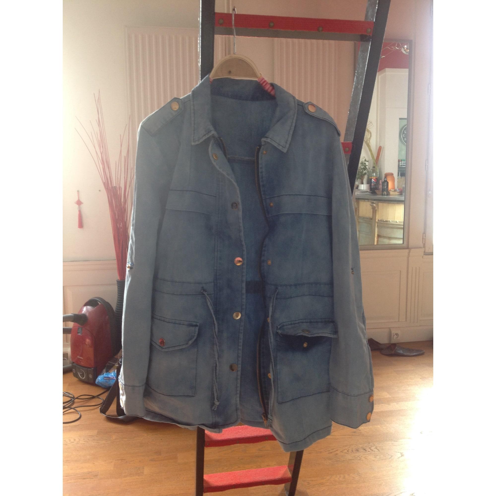 Veste en jean ASOS Bleu, bleu marine, bleu turquoise