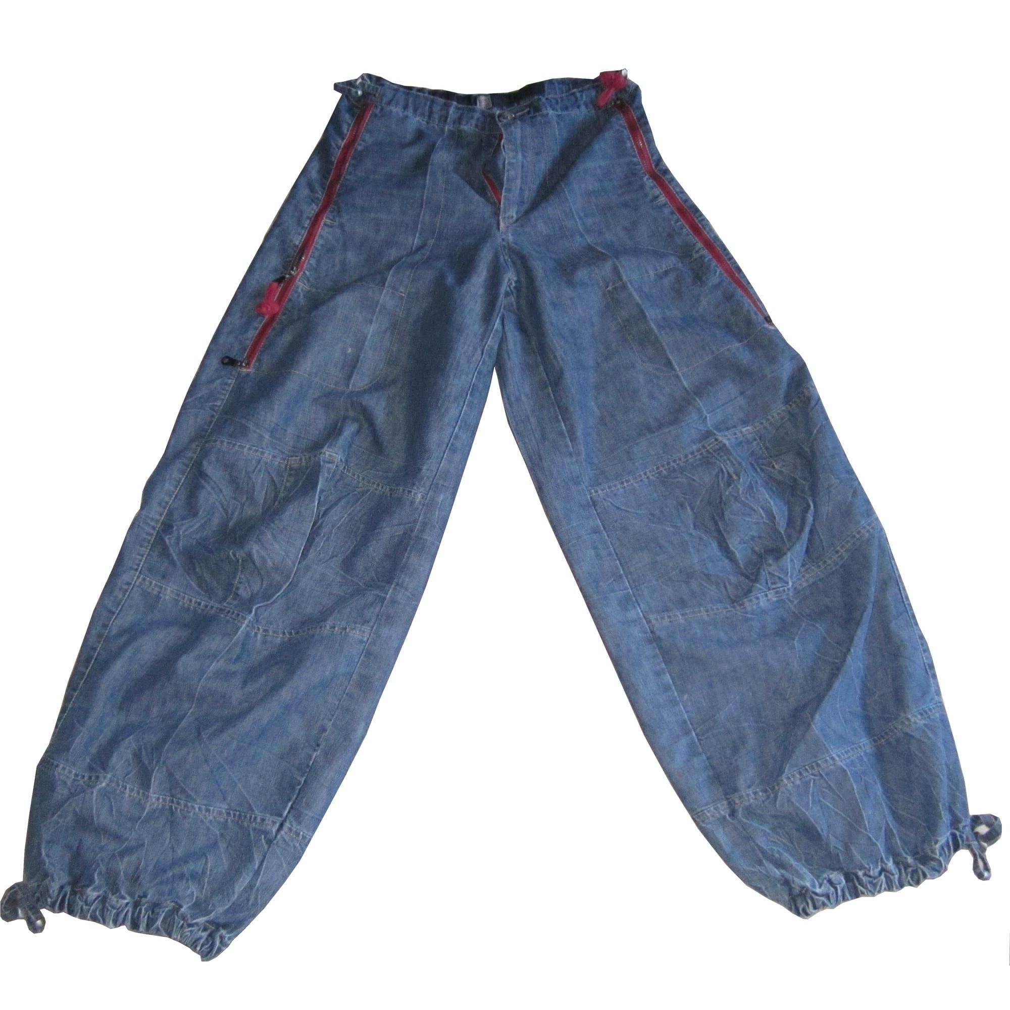 Jeans large, boyfriend MARITHÉ ET FRANÇOIS GIRBAUD Bleu, bleu marine, bleu turquoise