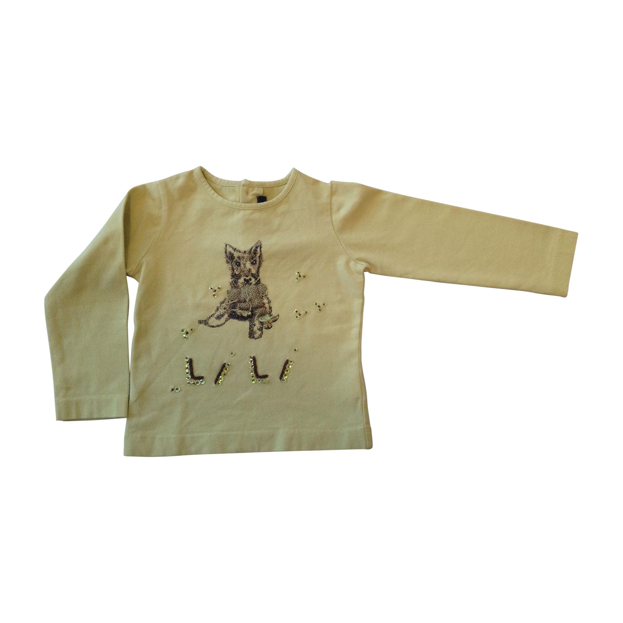 Top, Tee-shirt LILI GAUFRETTE Vert