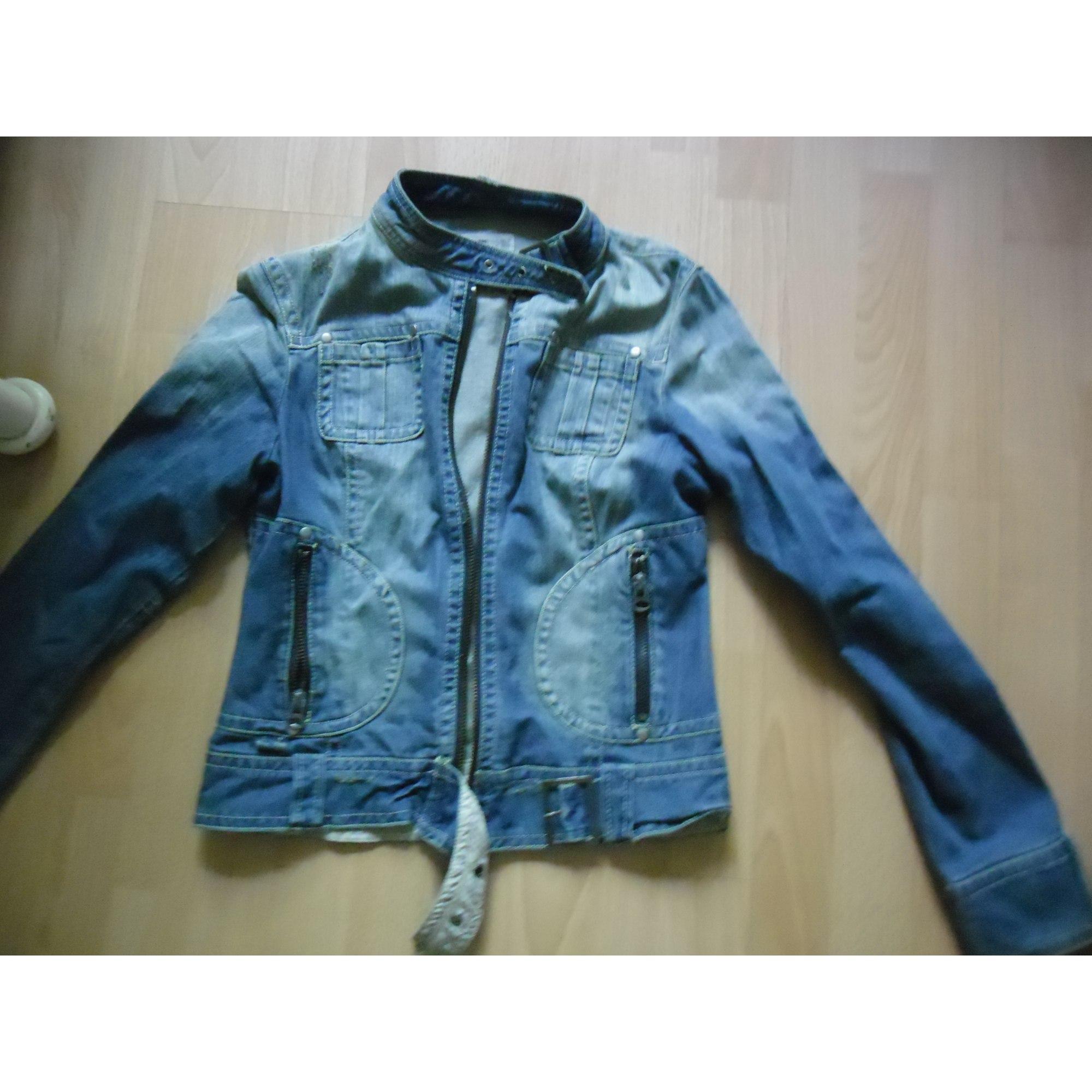 Blouson en jean ZARA Bleu, bleu marine, bleu turquoise